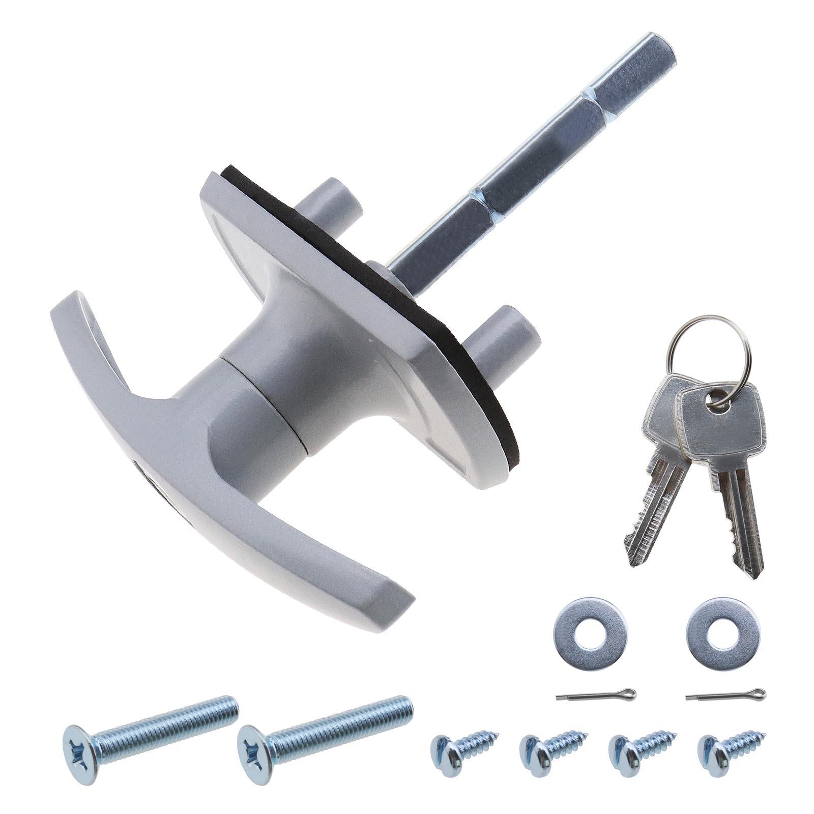 Garage Door Lock T Handle Shaft 18mm Fixing Spigot For Cardale
