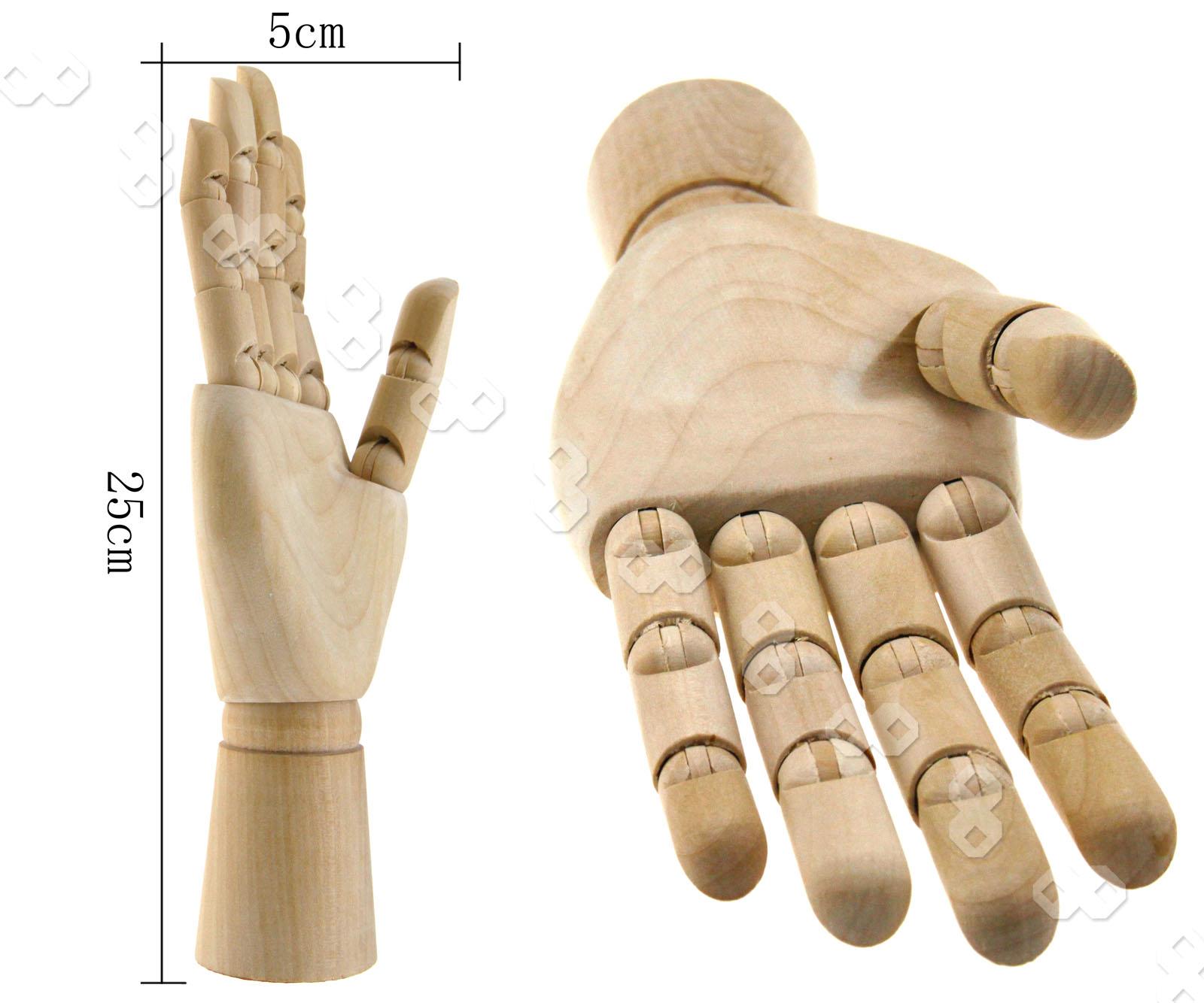 1er Modellpuppe Modellhand Holzpuppe Holz H/ände Fingern Modell 25cm