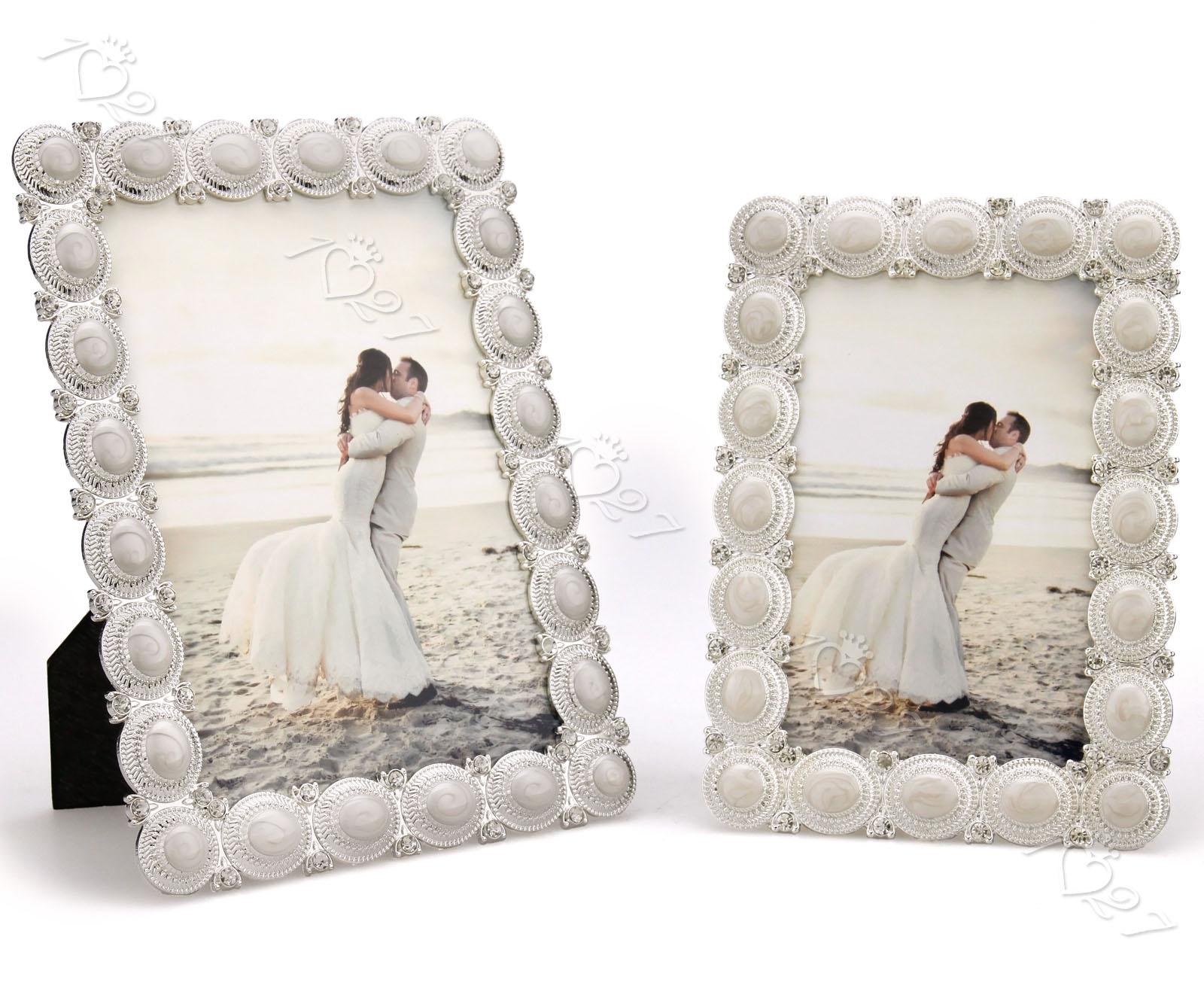 Mode Crystal Handwerk Bilderrahmen mit Silber Rahmen 10x15 /13x18 FF ...
