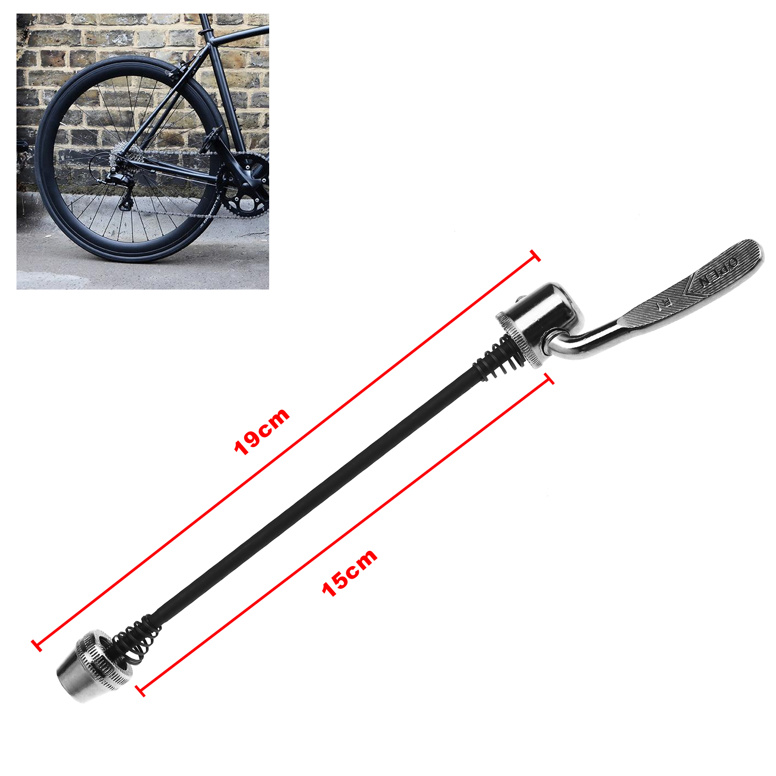 Road Quick Release Skewer Bicycle Bike Trainer Cycling Tool Parts 19cm
