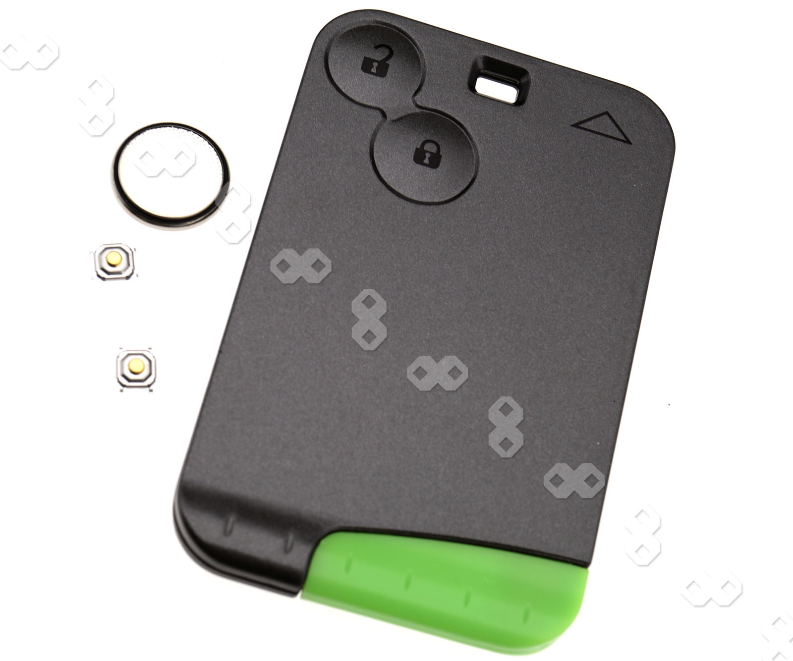 replacement for renault laguna espace 2 button key card shell case w battey hd ebay. Black Bedroom Furniture Sets. Home Design Ideas