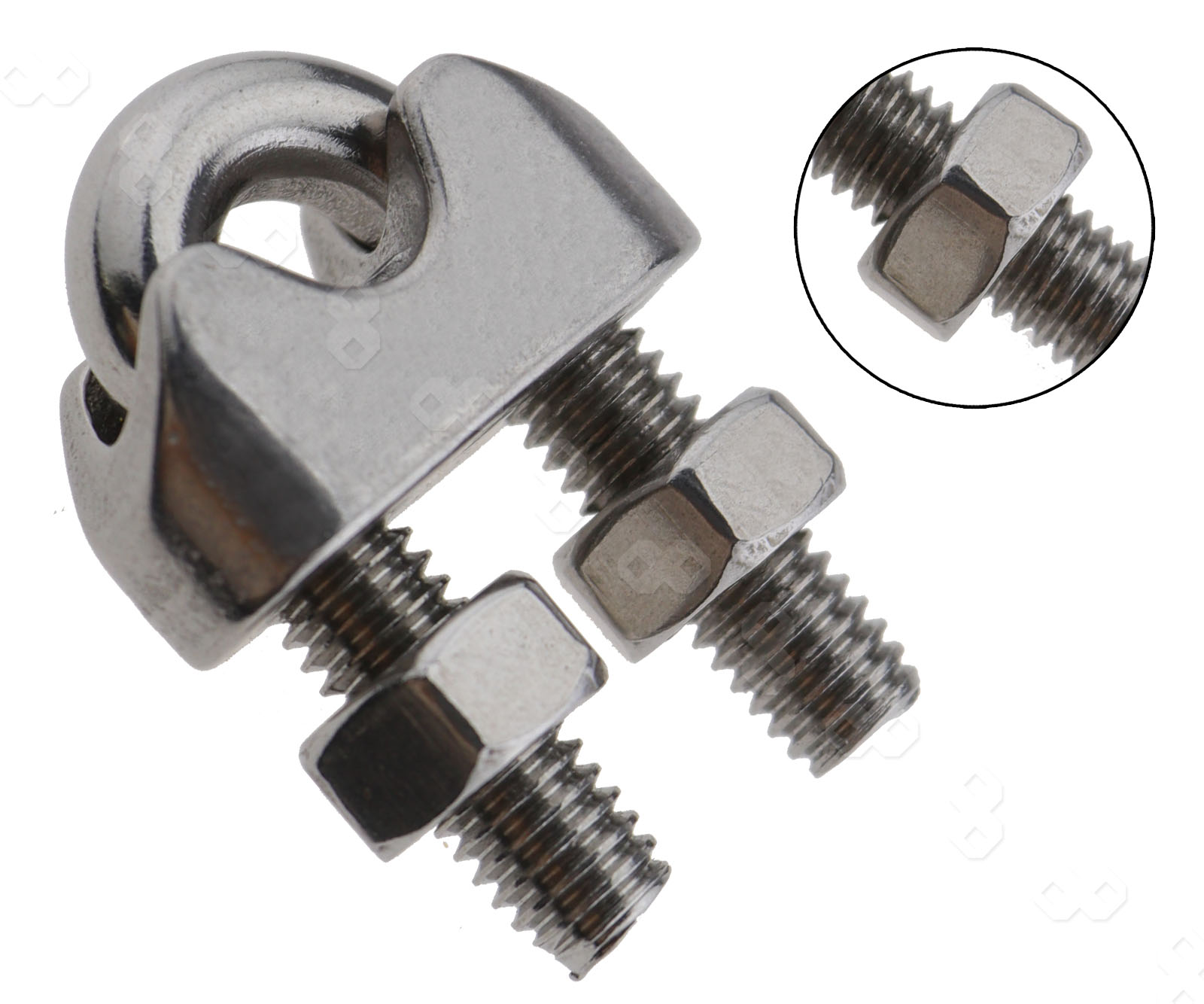 Pcs mm wire rope clip stainless steel cable saddle