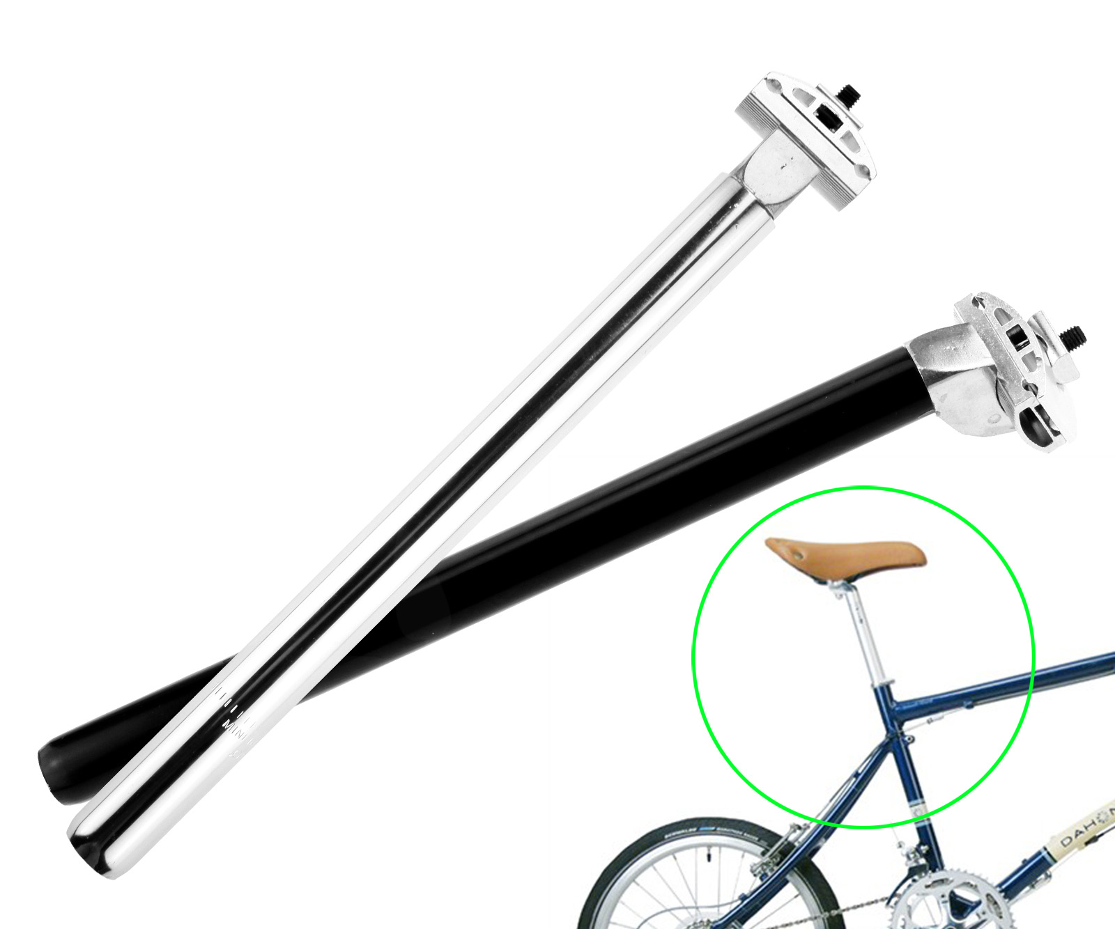 Mountain Bicycle Bike Cycle 25.4//27.2mm x 350mm Adjustable Seat Post Pin