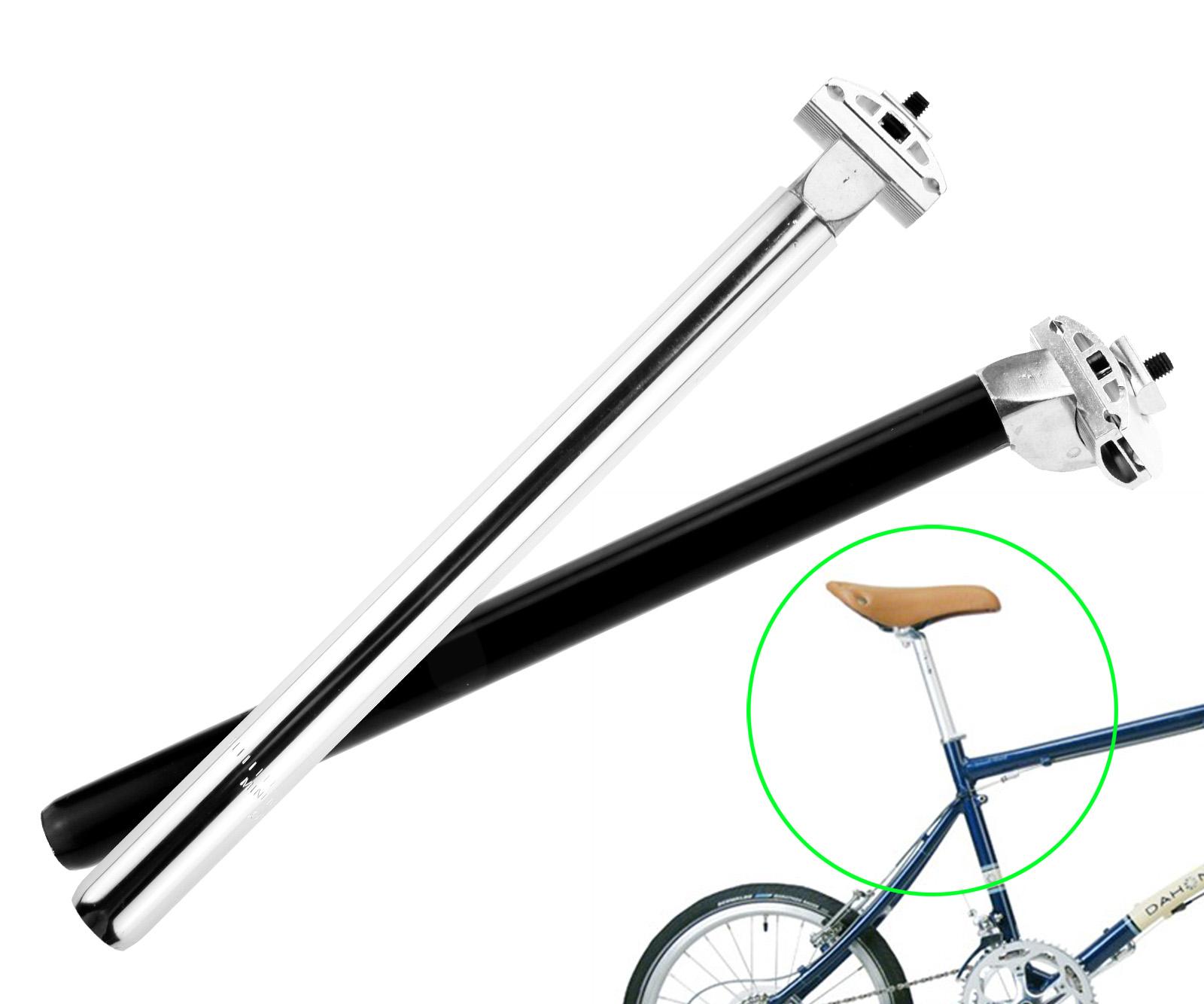 Adjustable Bicycle Mountain Bike CYCLE  Pin Seat Post 25.4mm Black 35cm Long