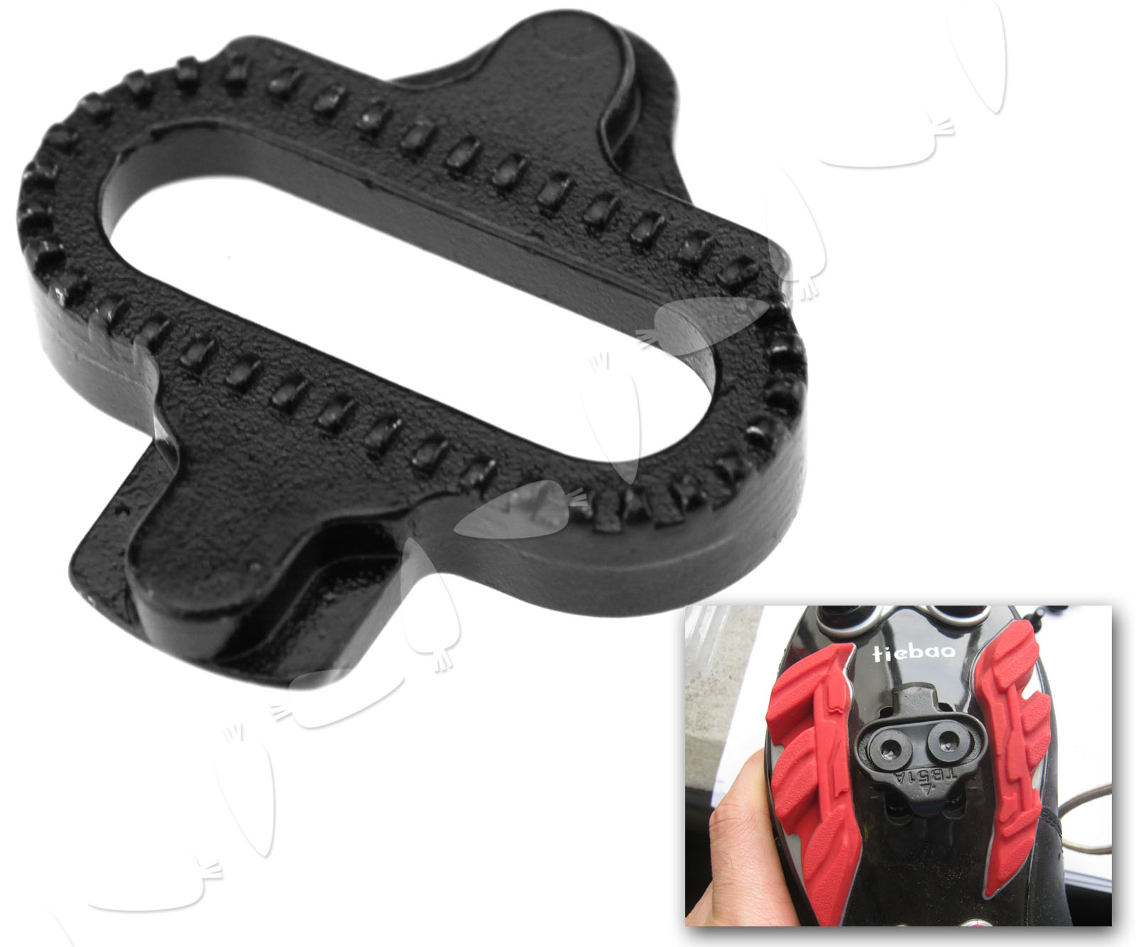 Black MTB Pedal Cleat For Shimano SM-SH PD-M520//540//324//545//424//647//959