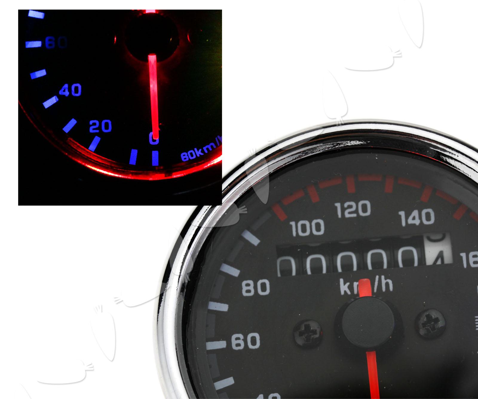 Universal Motorcycle LED Backlight Odometer+Tachometer ...