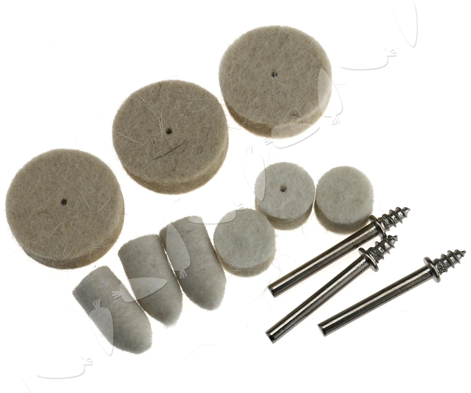 how to clean wool polishing pads machine