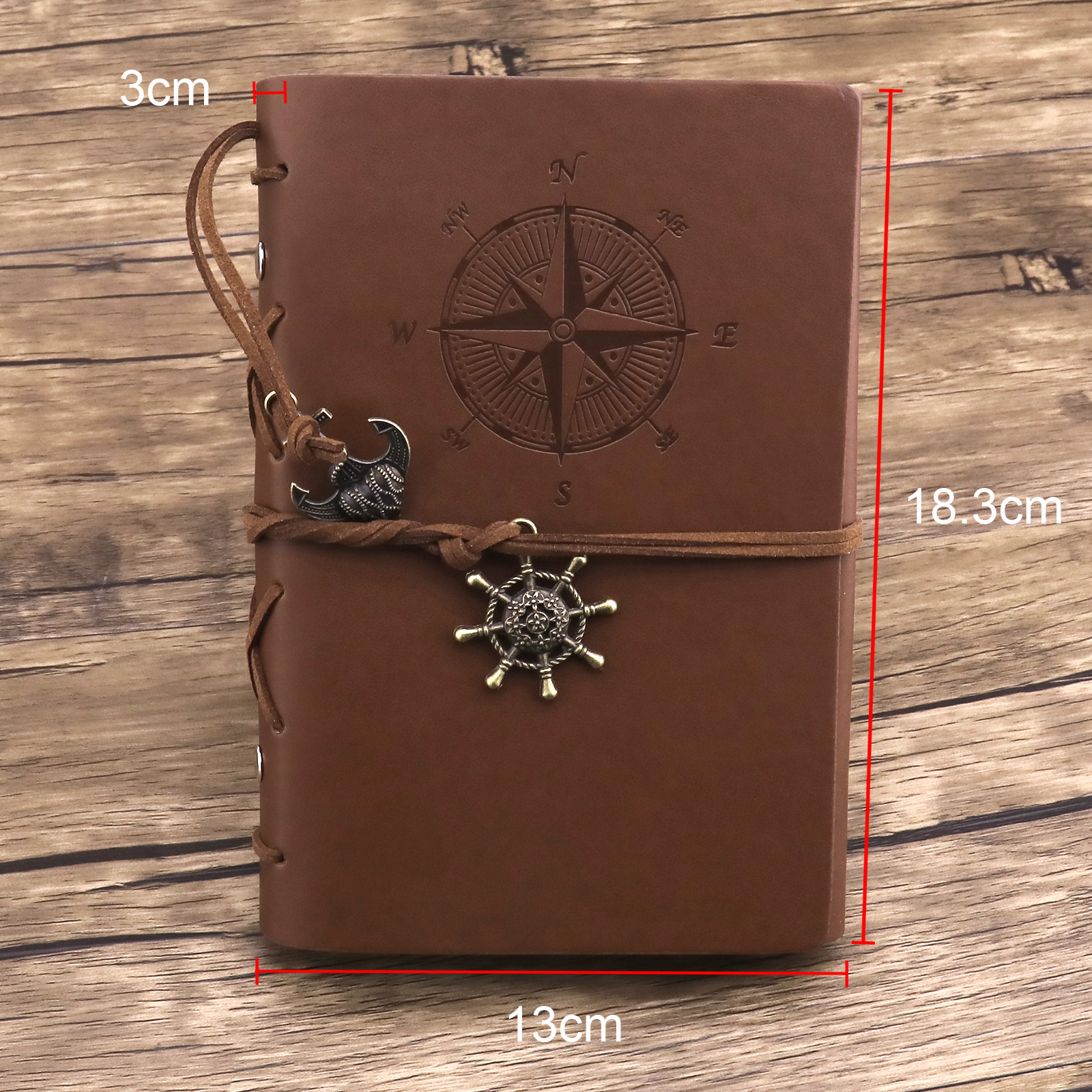 Pirate PU Leather Notebook Journal Refillable Travelers