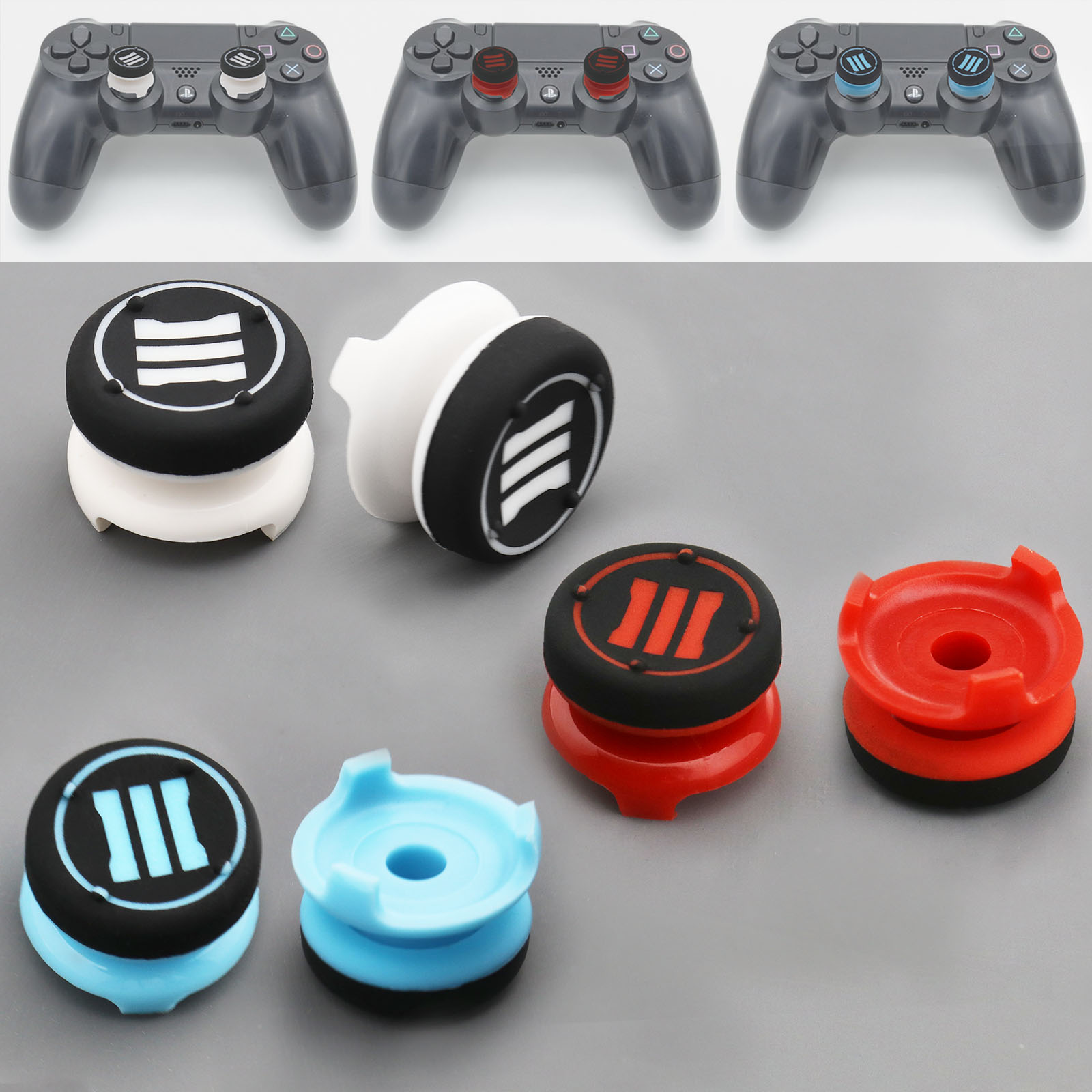 a7a33e48502 Details about 2x Thumb Grip Analog Stick Extender Tall Controller for PS4 Xbox  360 PS3 Ones