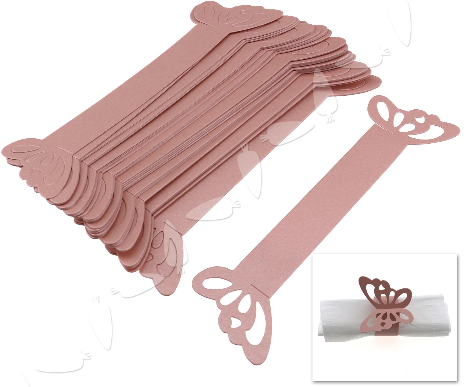 50er papier serviettenring serviettenhalter hochzeit tabelle deko rosa ebay. Black Bedroom Furniture Sets. Home Design Ideas