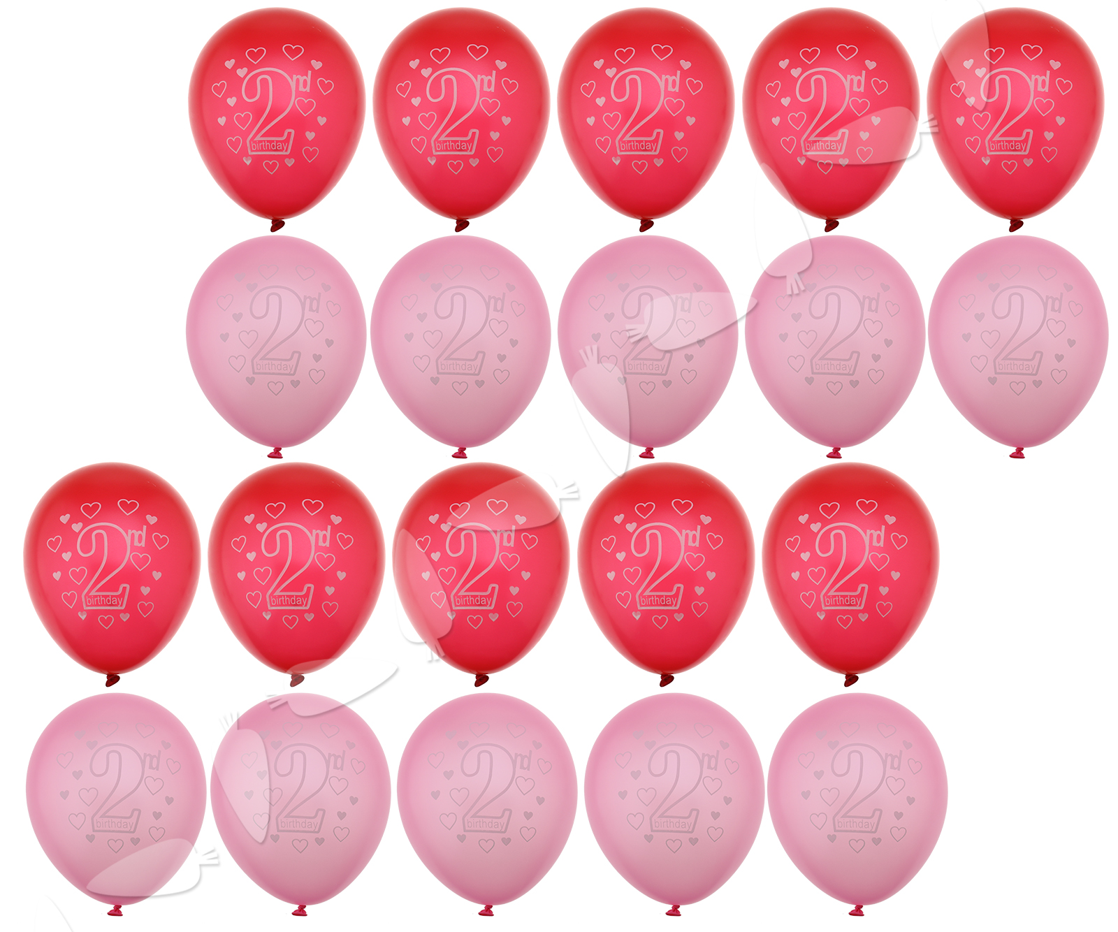 20Pcs-28cm-PINK-Blue-2nd-Birthday-Heart-Printed-Latex-Balloons-Party-Decoration