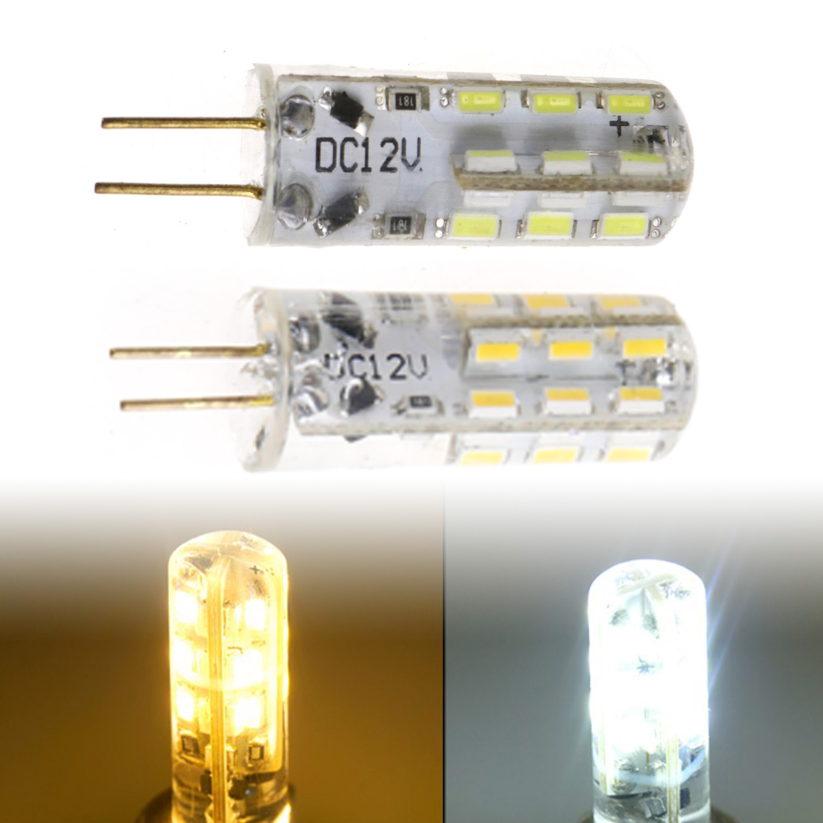 10tlg LED Birne G4 3W SMD LED Leuchtmittel Warmweiß Glühbirne Stiftsockel Lampe