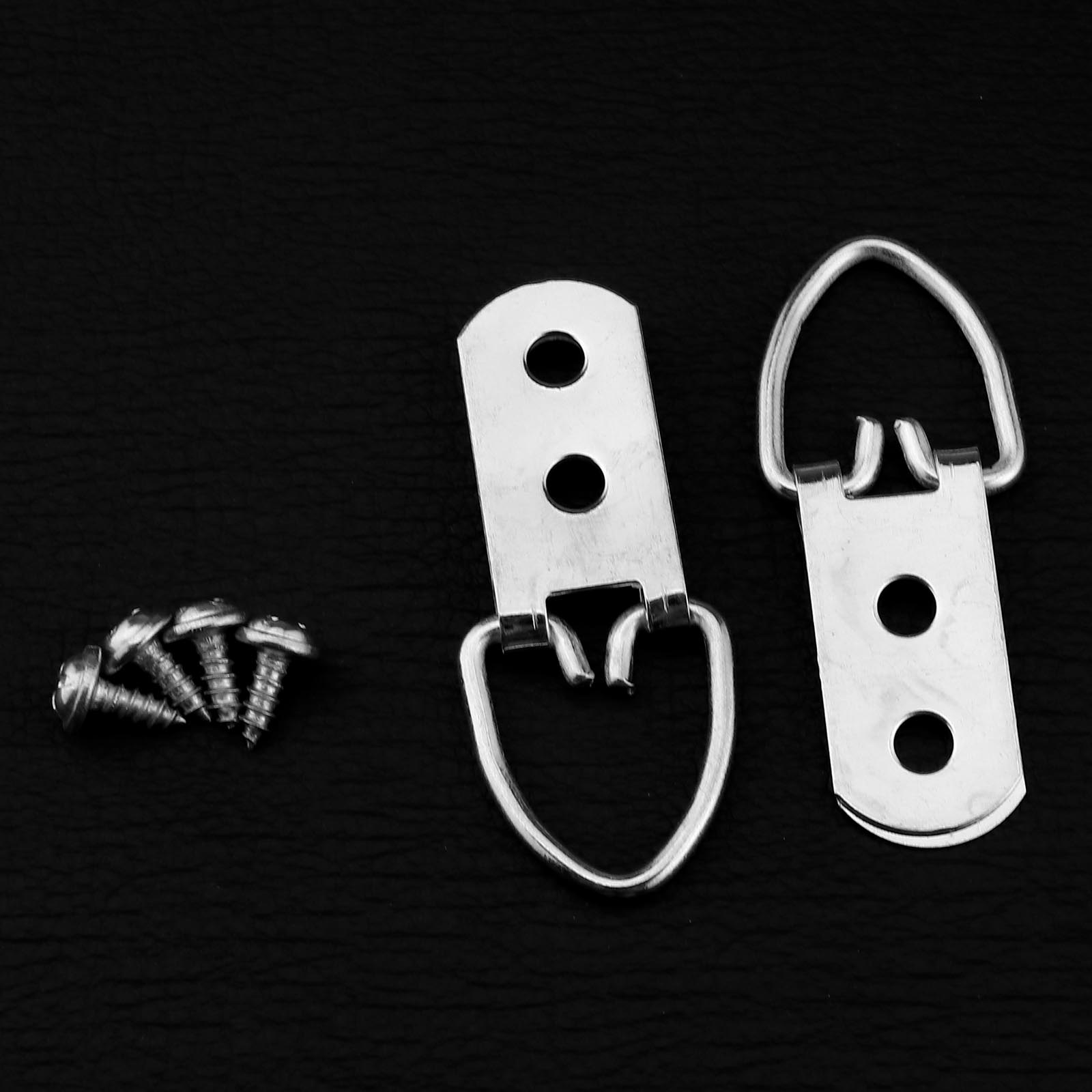 Picture-Frame-Hooks-Hanger-with-Screws-Kit-Metal-Material-Replacement-Tool thumbnail 3