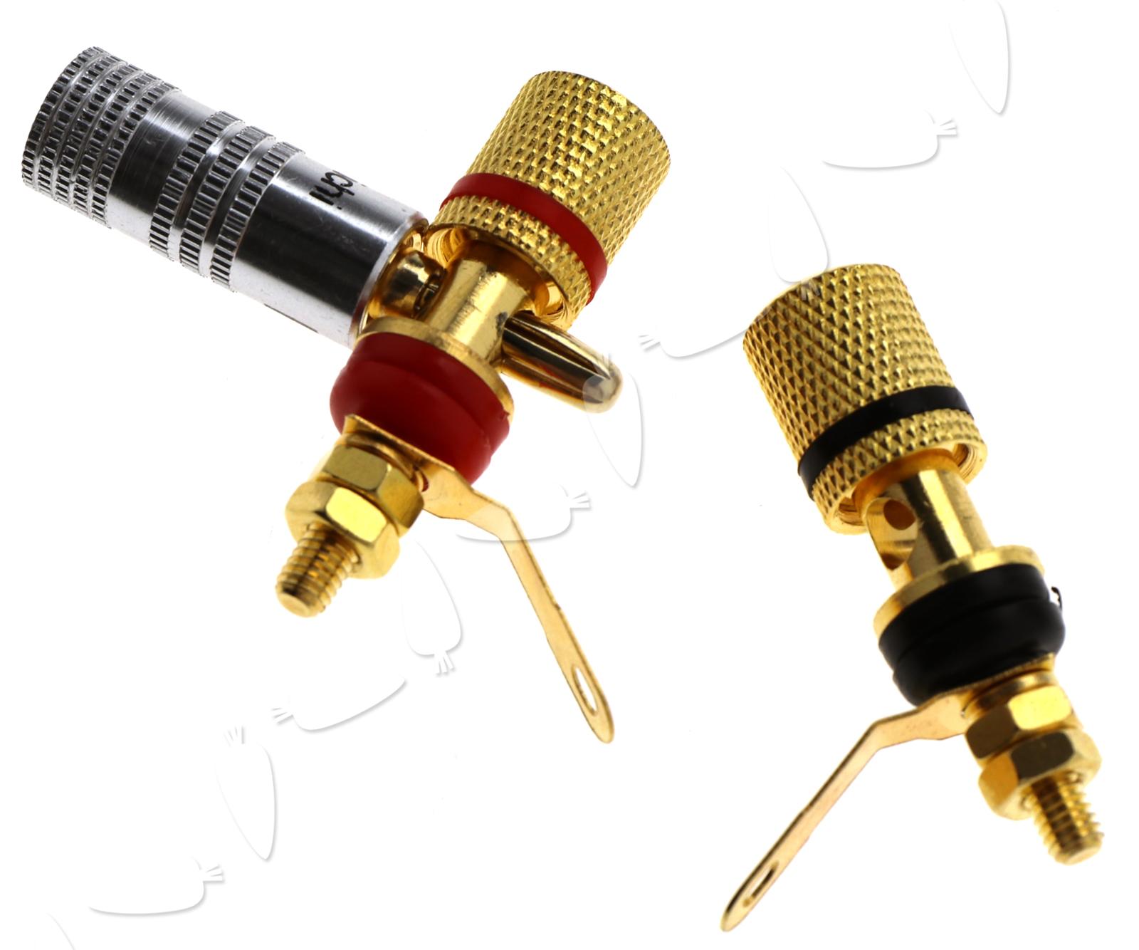 8 X Speaker Spade Terminal Binding Post Metal Banana Plug