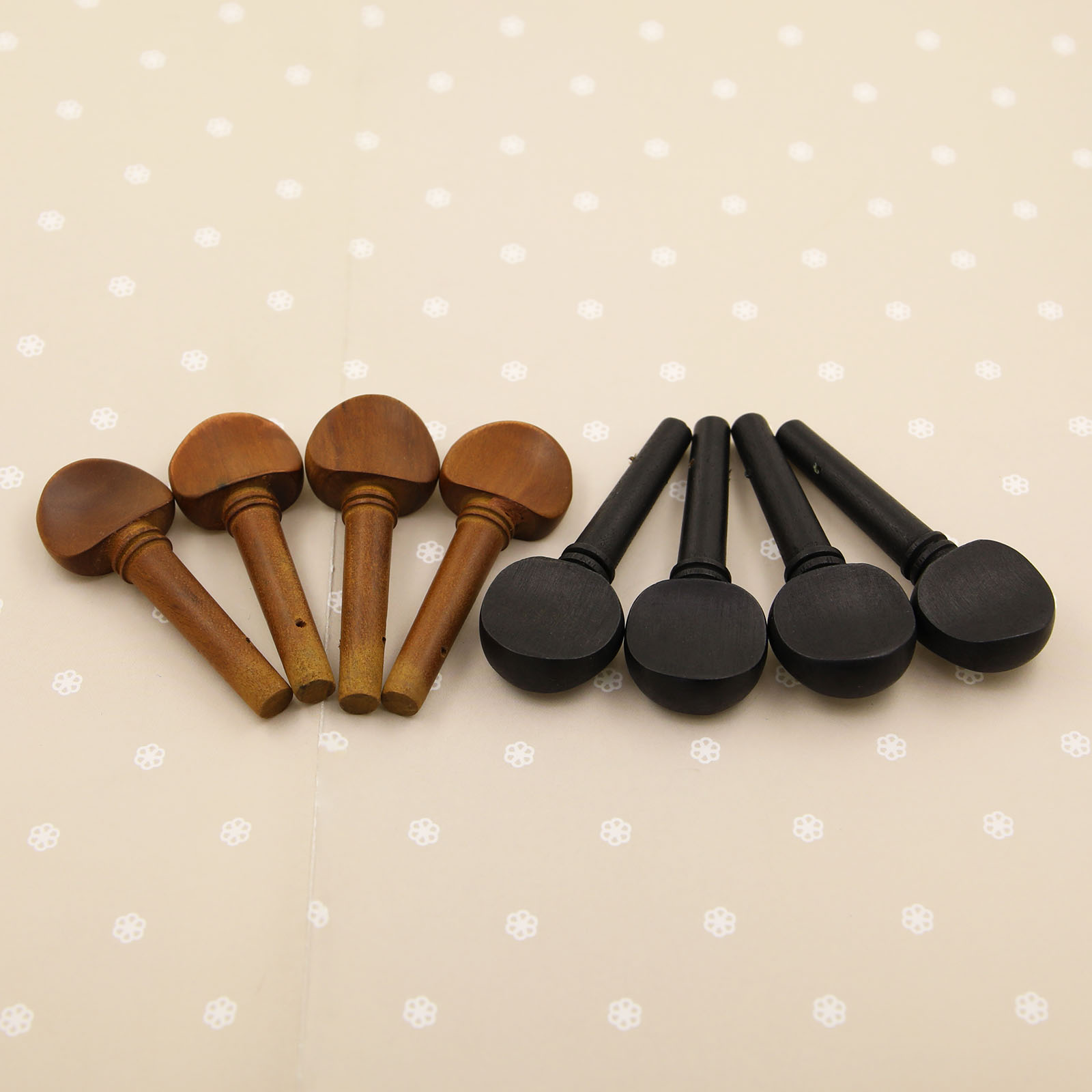 Ebony Violin Pegs Copper Gold Tip Tuning Pegs SET 4-pcs For 4//4 Violin Fiddle
