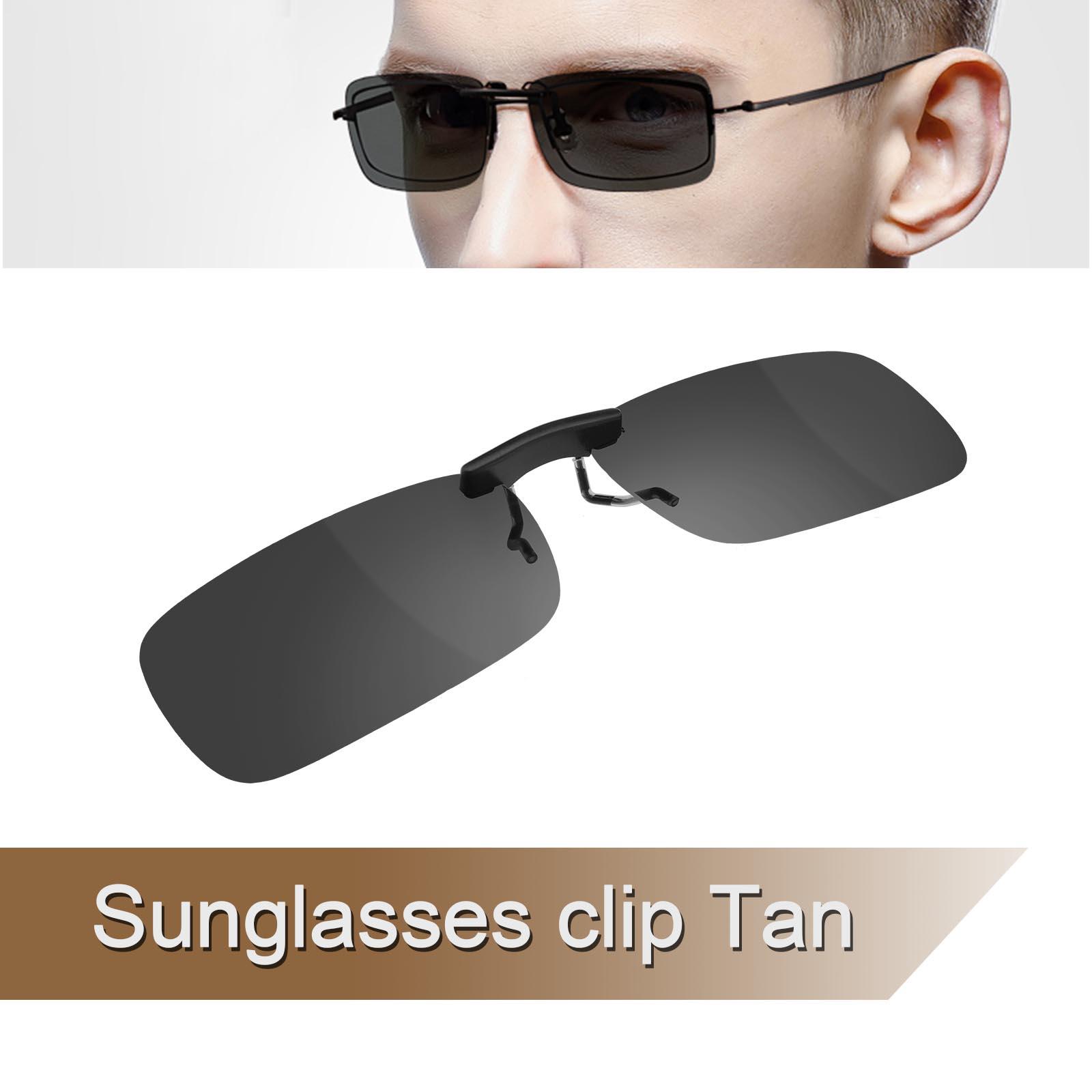 Clip on Vorhänger Clip Sonnenbrille Brillen Aufsatz Polarisiert ...