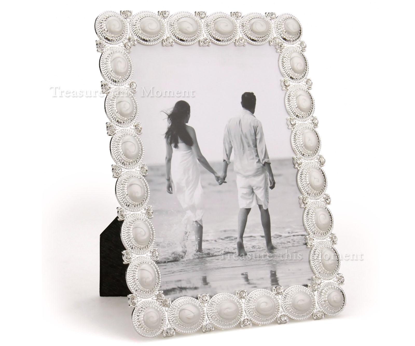 handwerklich Crystal Bilderrahmen Fotorahmen mit Silber Rahmen 13x18 ...