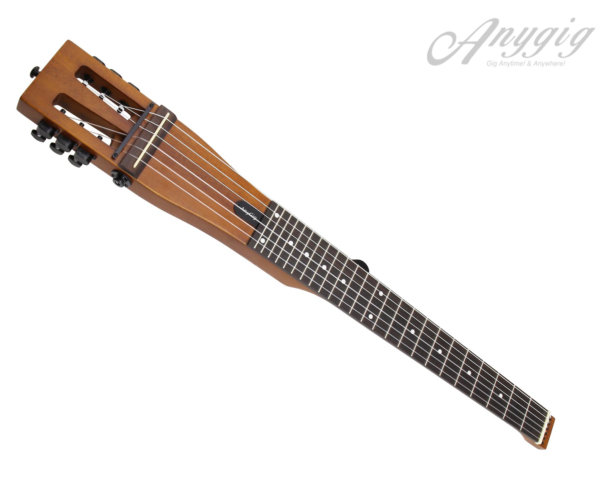 Anygig Guitar AGNSE Nylon String Traveler Guitar Full Scale Length 25.5 Inch Backpacker Matte Brown
