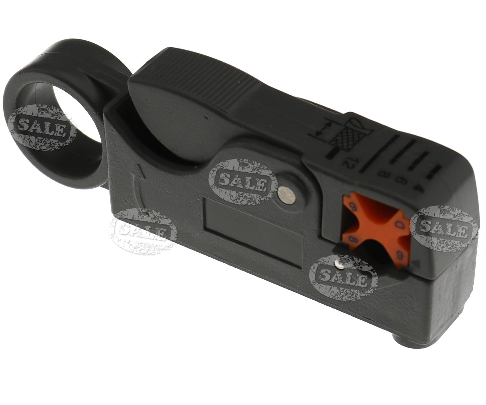 1 x Rotary Coax Coaxial Cable Cutter Tool RG6 RG59 RG58 Stripper ...