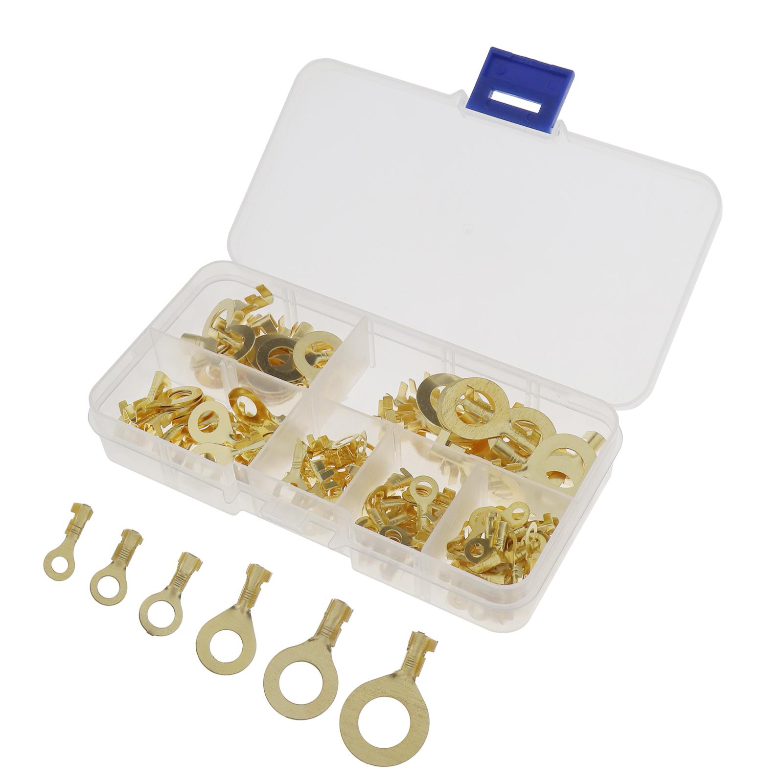 150Pcs-Anneaux-cable-anneau-laiton-cuivre-Set-de-melange-Box-M3-M4-M5-M6-M8-M10