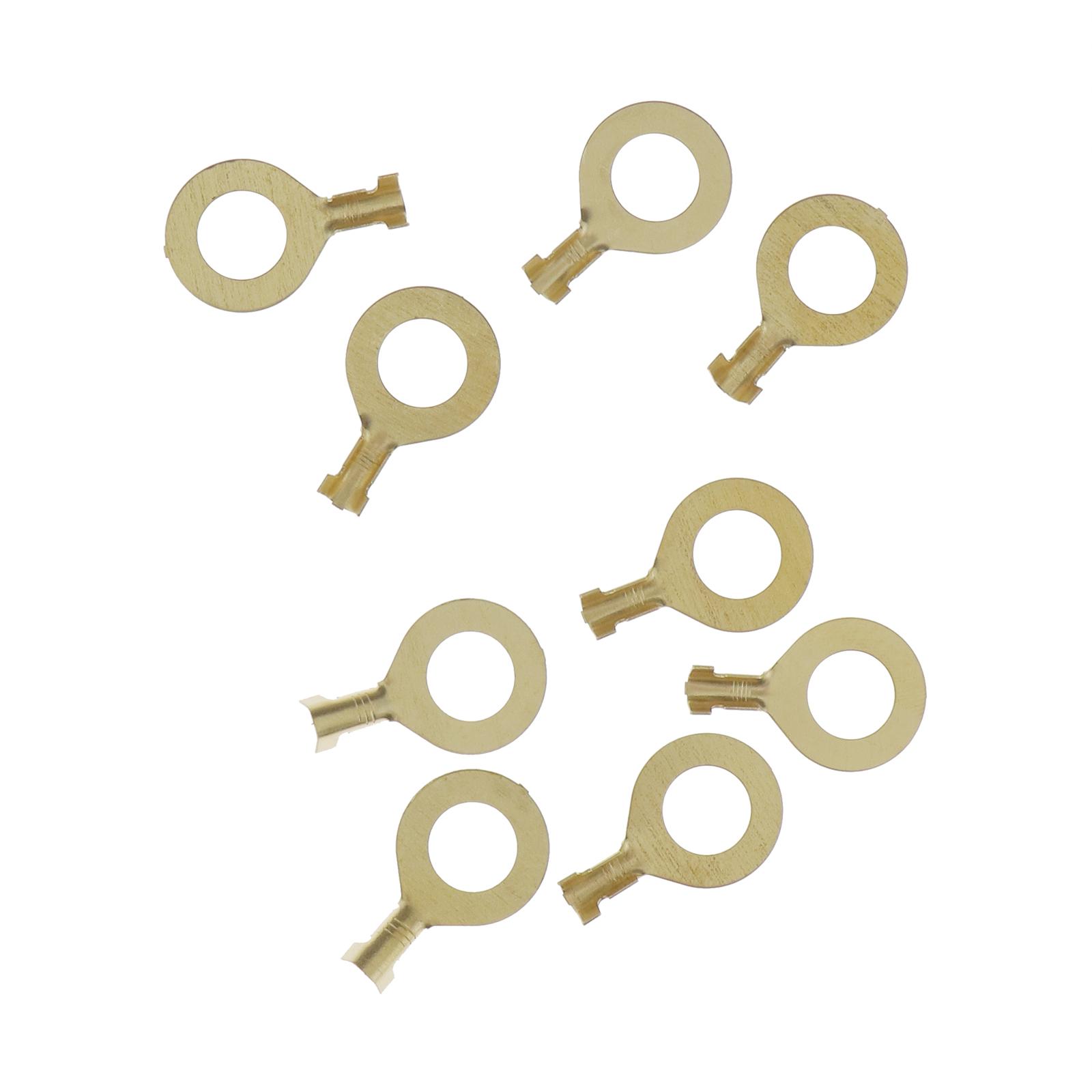150Pcs-Anneaux-cable-anneau-laiton-cuivre-Set-de-melange-Box-M3-M4-M5-M6-M8-M10 miniature 5