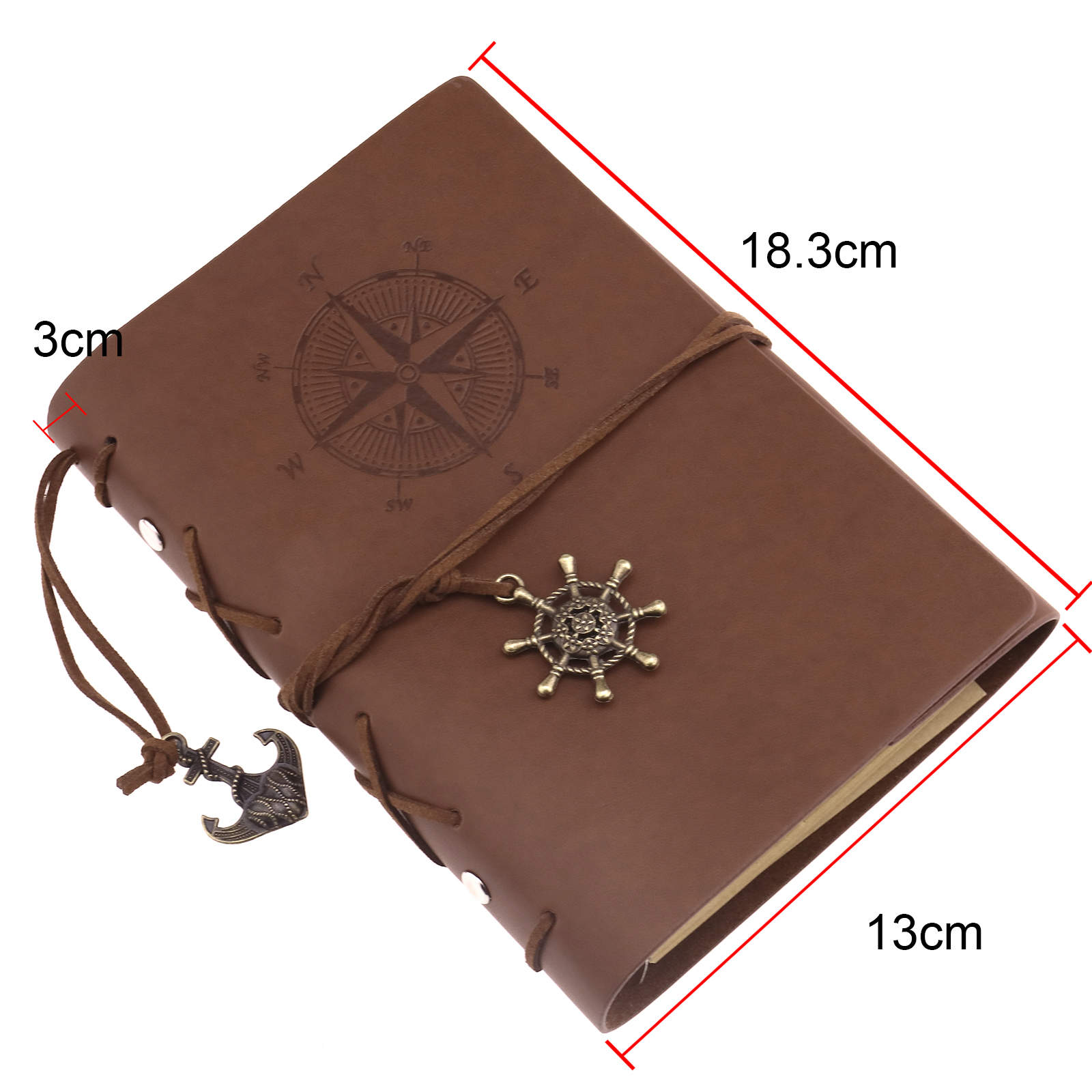 Portable Journals Brown Vintage Refillable Notebook With