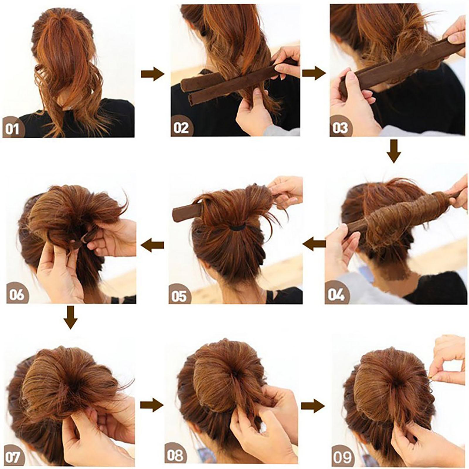 6stk Haar Twister Bun Hair Maker Dutt Haardutt Donut Haarknoten Diy
