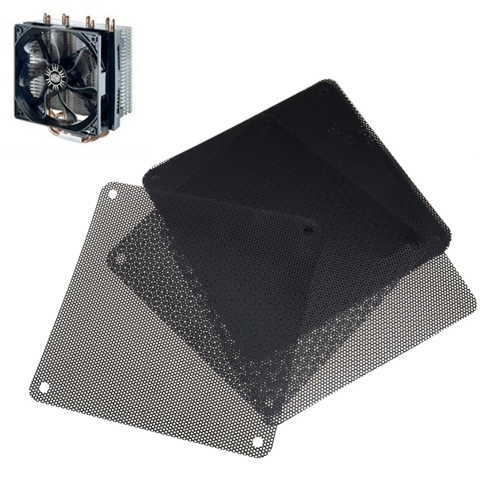 4pcs 60x60mm Computer Mesh Fan Cooler Dust Filter Dustproof Case Cover SU