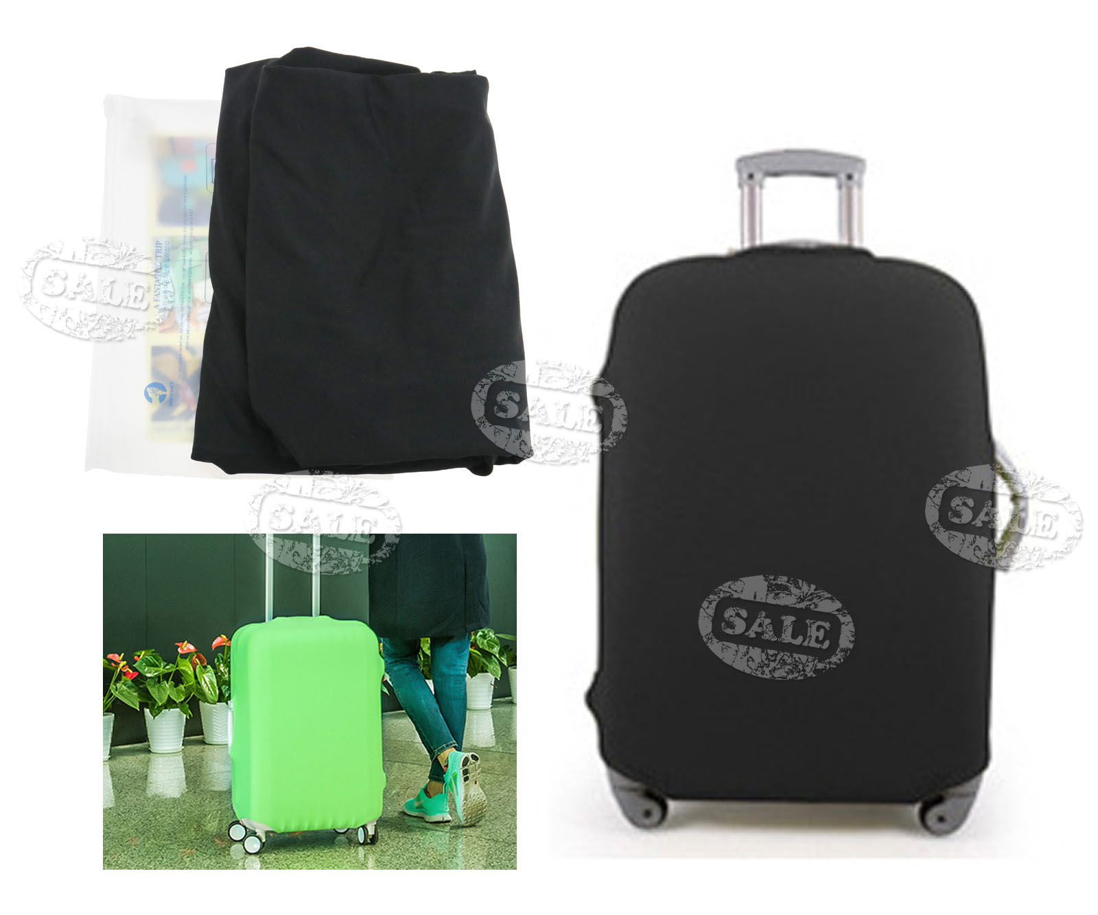 cabin hand luggage suitcase cover candy color 4 wheeled. Black Bedroom Furniture Sets. Home Design Ideas