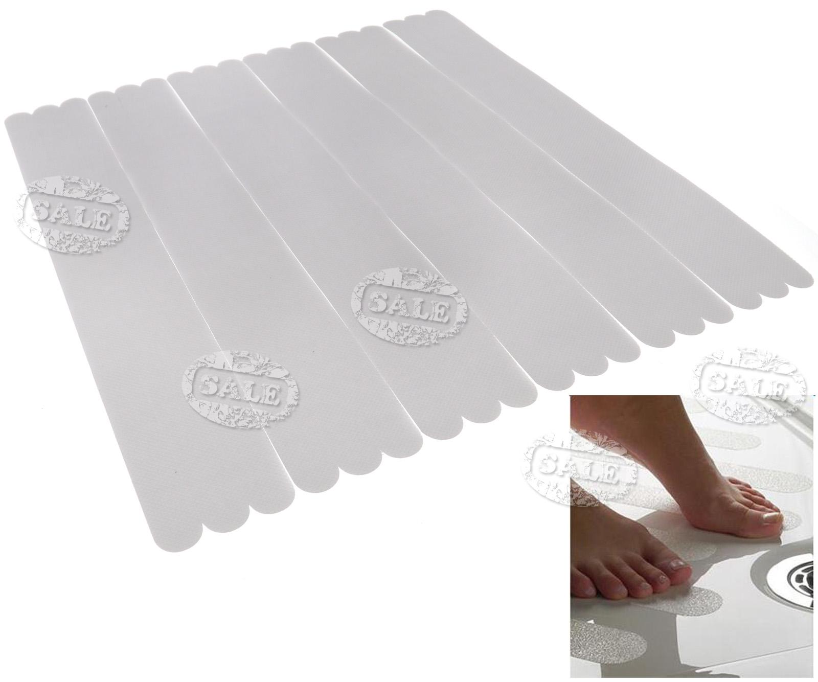 18 Clear Anti Skid Bath Grip Sticker Non Slip Shower Strip