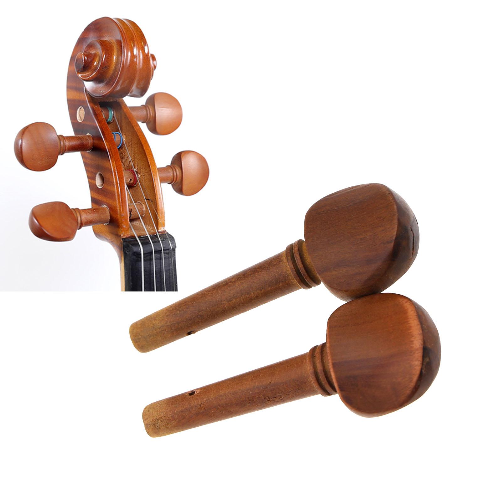 Wirbel für Violine aus Buchsbaum Herzform B521 hb