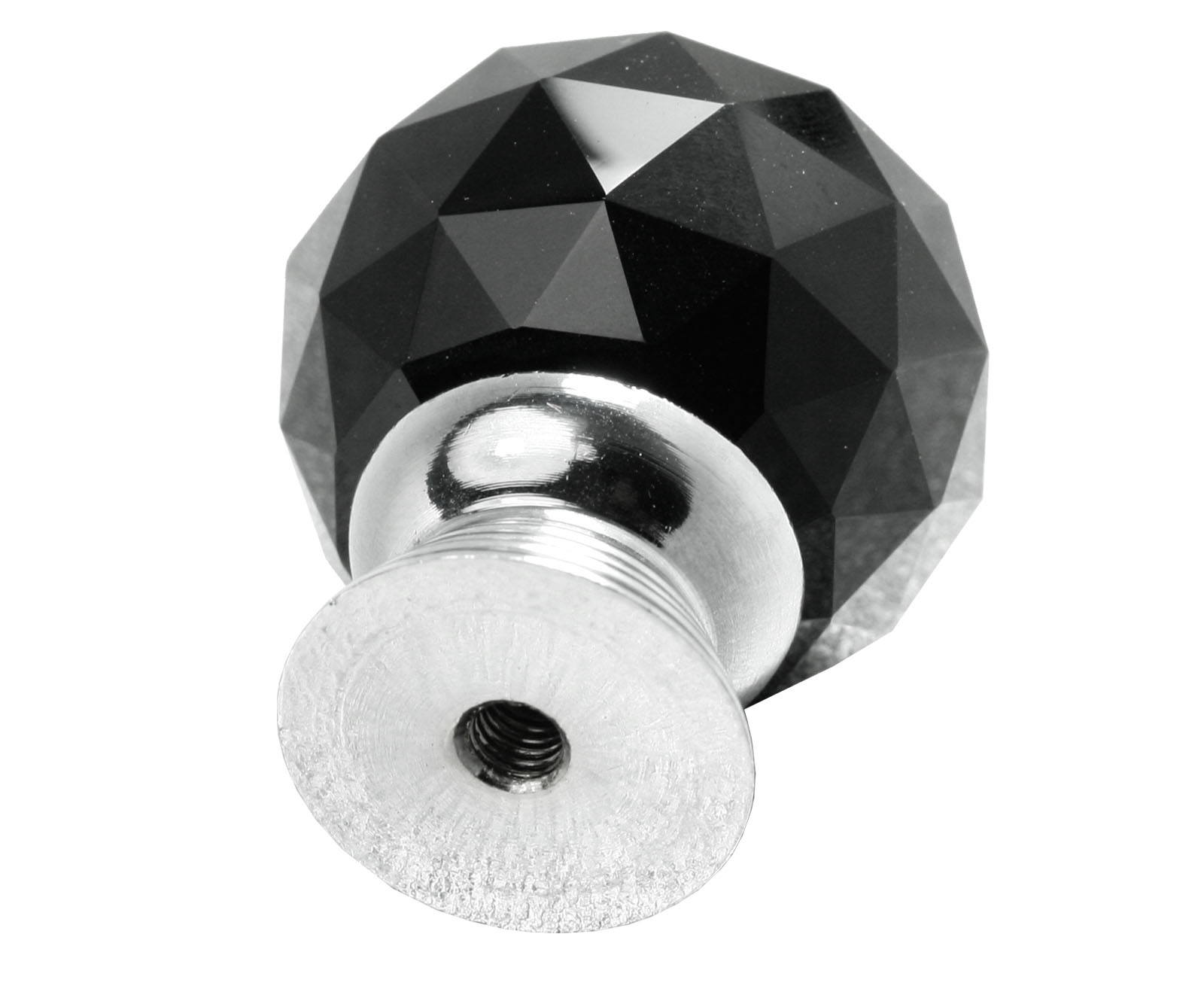 Screw BL 4x30mm Crystal Glass Clear Door Knobs Handles Drawer Kitchen Silver