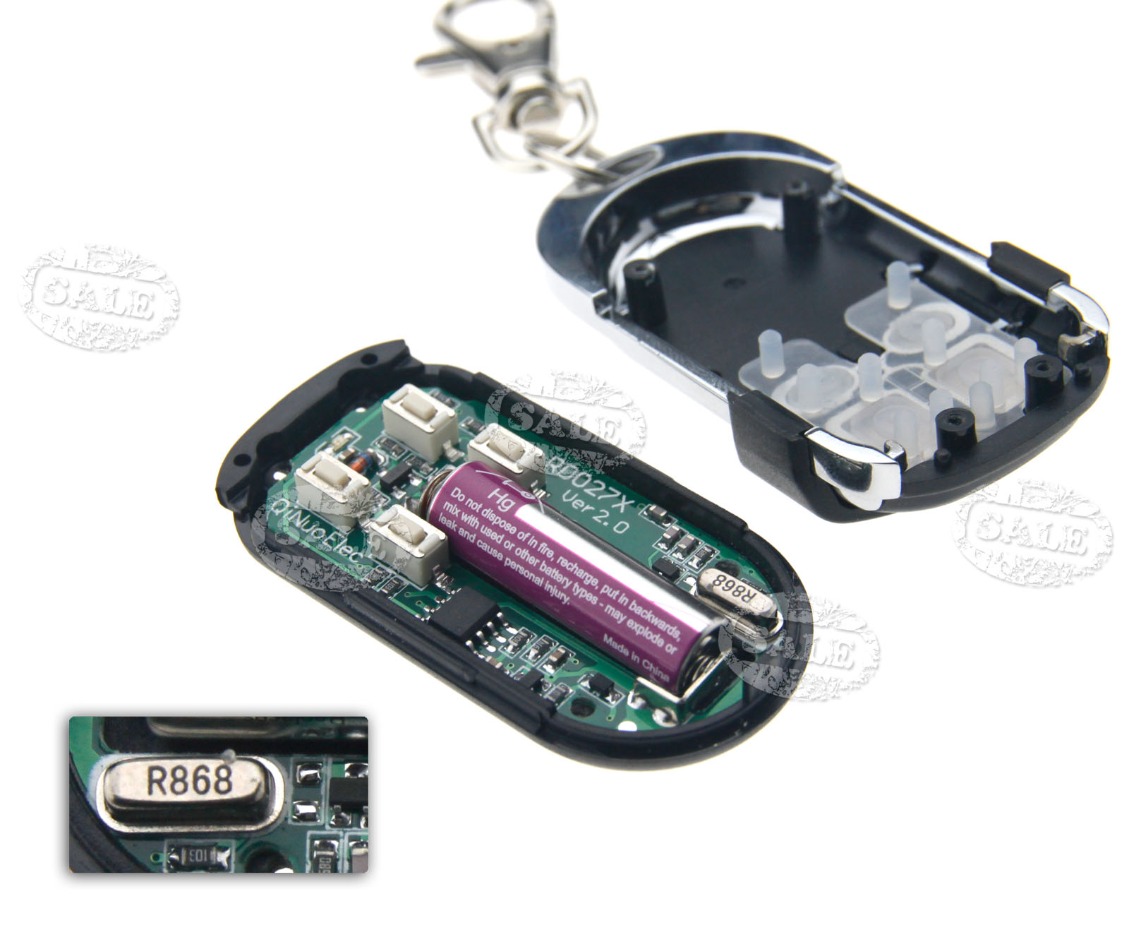 868 3mhz Copy Code Remote Cloning Electronic Key Fob