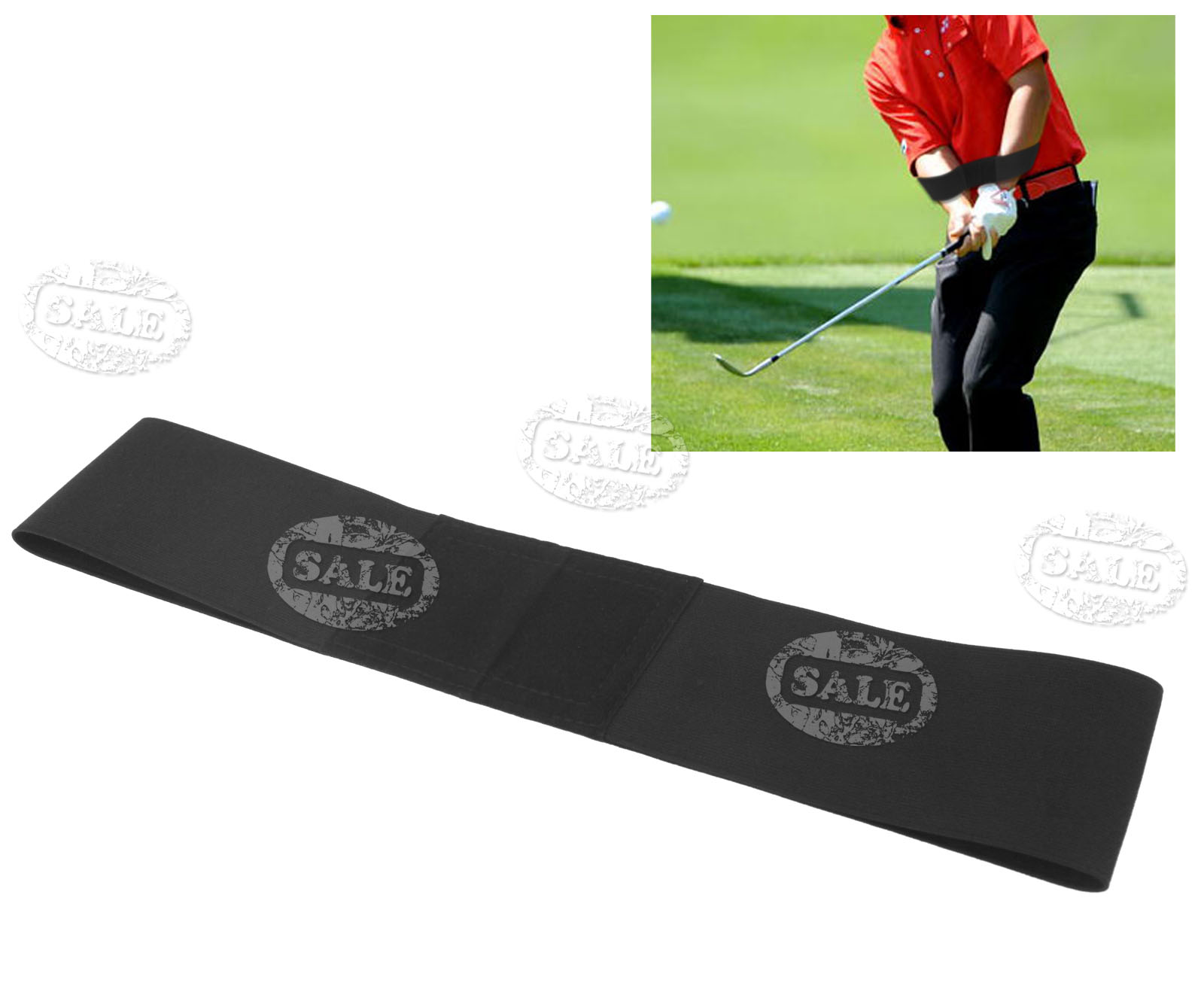 Details about Elbow Brace Golf Power Band Training Aid Swing Training  Straight Practice