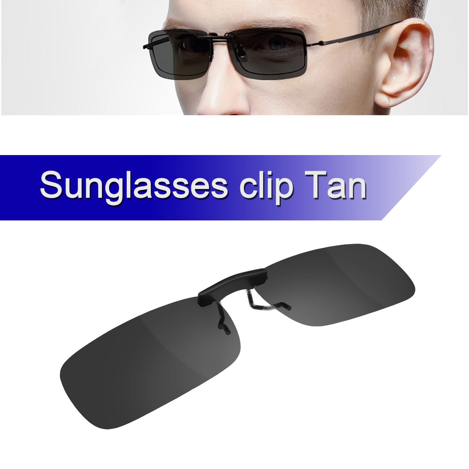 Grau Clip on Vorhänger Clip Sonnenbrille Brillen Aufsatz Polarisiert ...