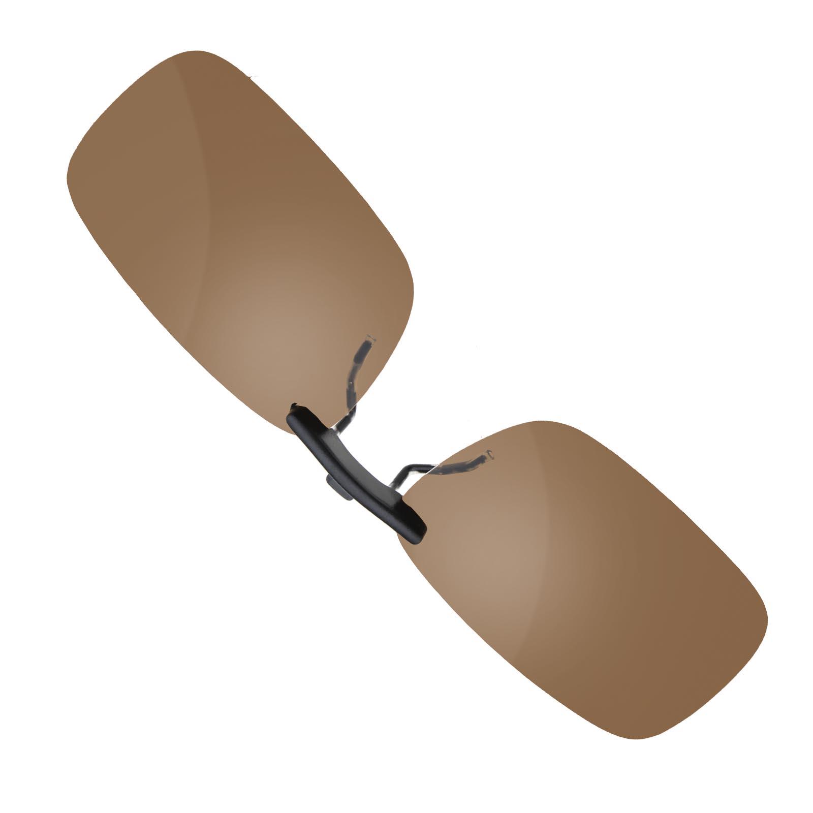 Dunkel braun Sonnenbrillenvorhänger UV Schutz Clip Klappbar ...