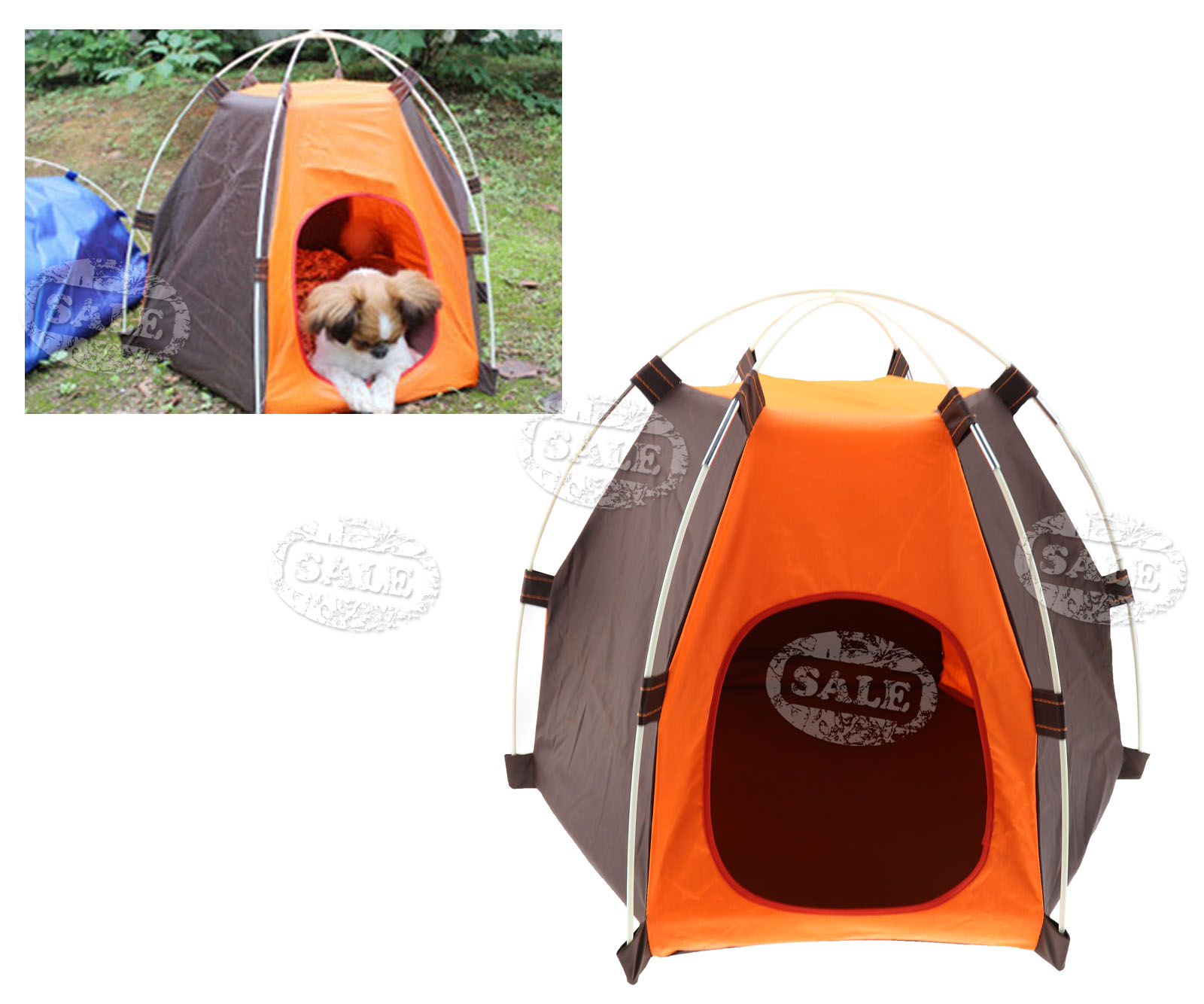folding portable pet tent camp puppy dogs cats bed outdoor house waterproof ebay. Black Bedroom Furniture Sets. Home Design Ideas