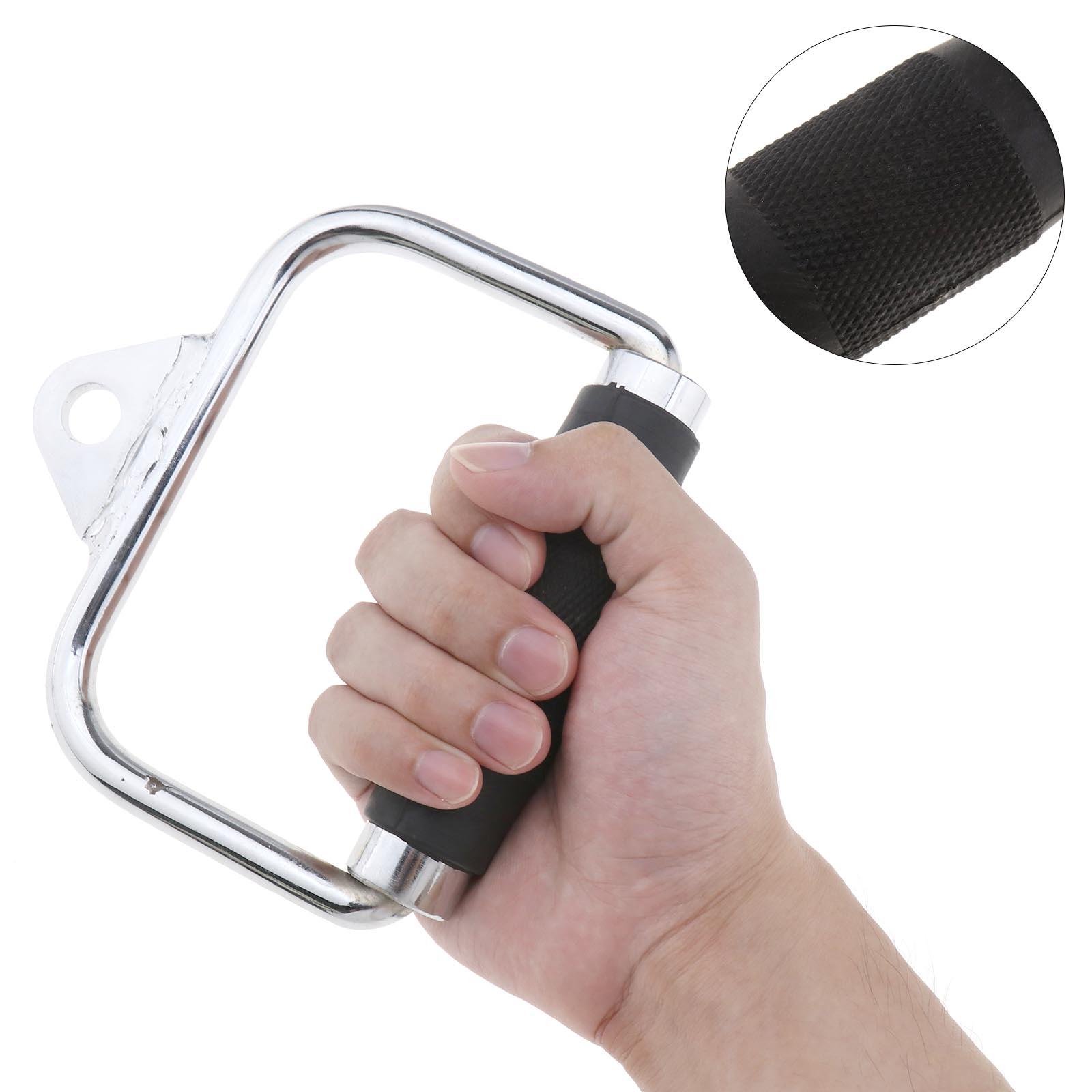 Einzel D Zwilling V Gerätegriff mit Gummigriffen Bodybuilding Kraftstationen