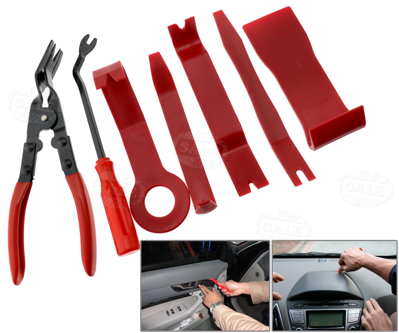 car interior radio door panel trim clip removal plier upholstery remover tool 608415764007 ebay. Black Bedroom Furniture Sets. Home Design Ideas