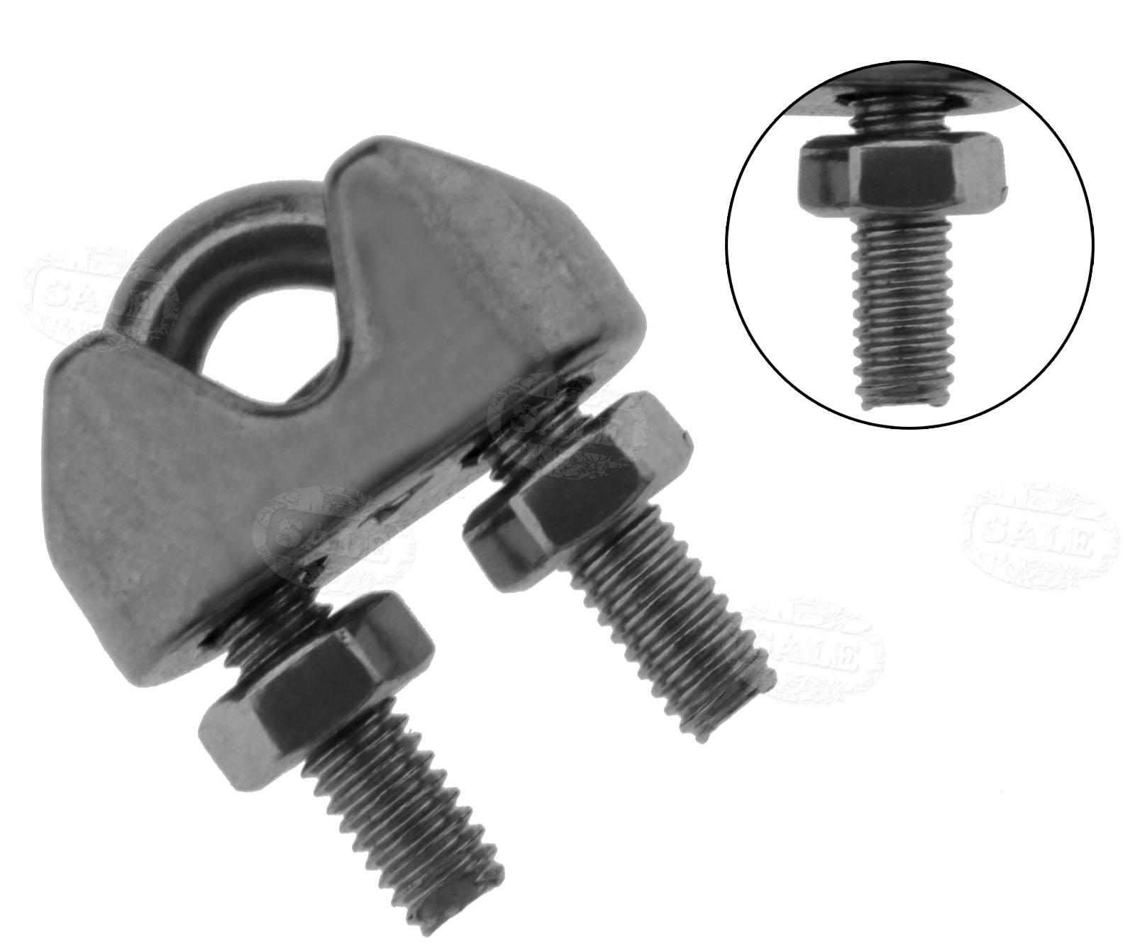 DT 10X 4mm Heavy Duty Wire Rope U Shape Bolt Grips For Wire Rope ...