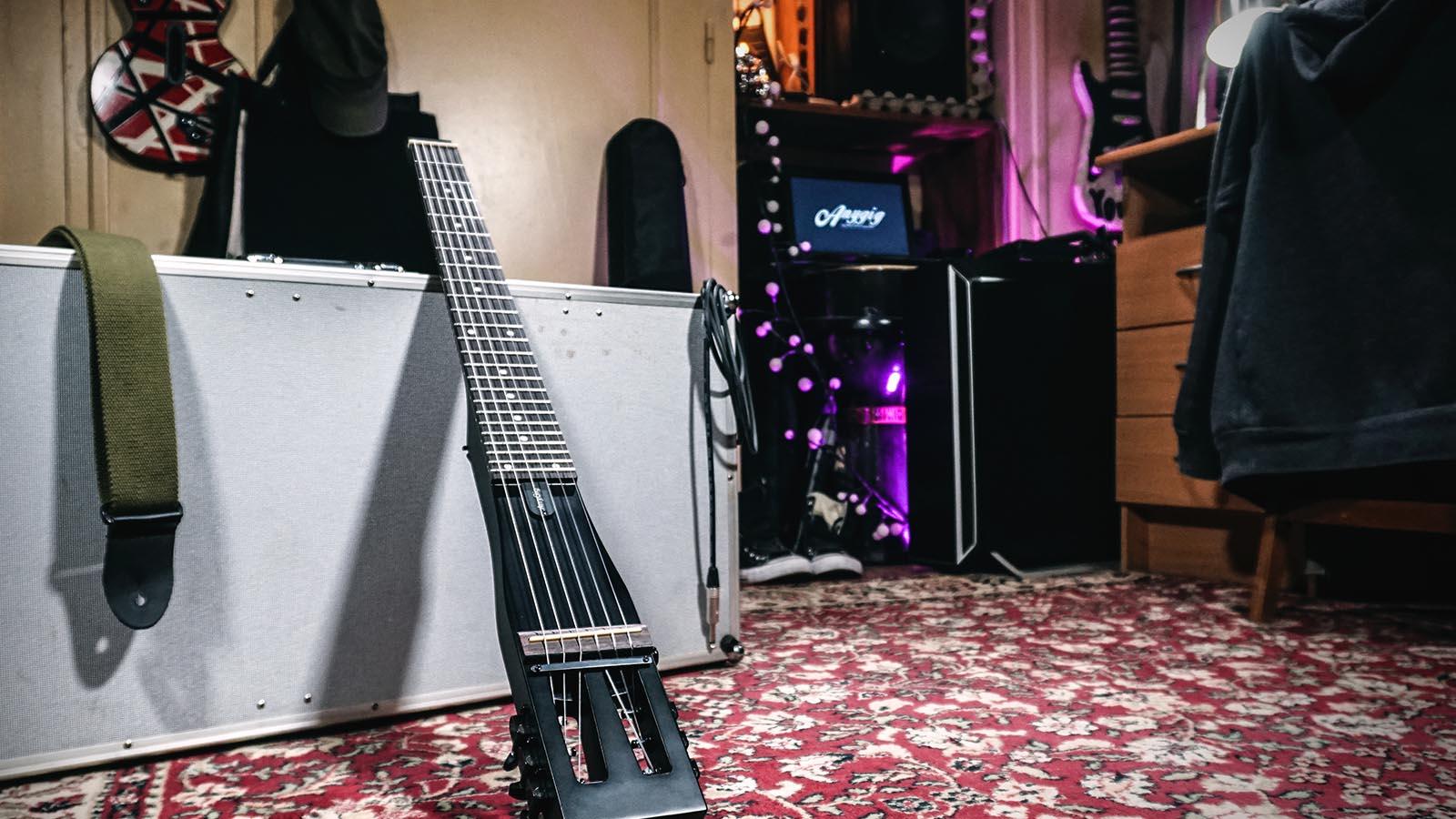protable anygig agn nylon string length traveler guitar classical type 735548263630 ebay. Black Bedroom Furniture Sets. Home Design Ideas