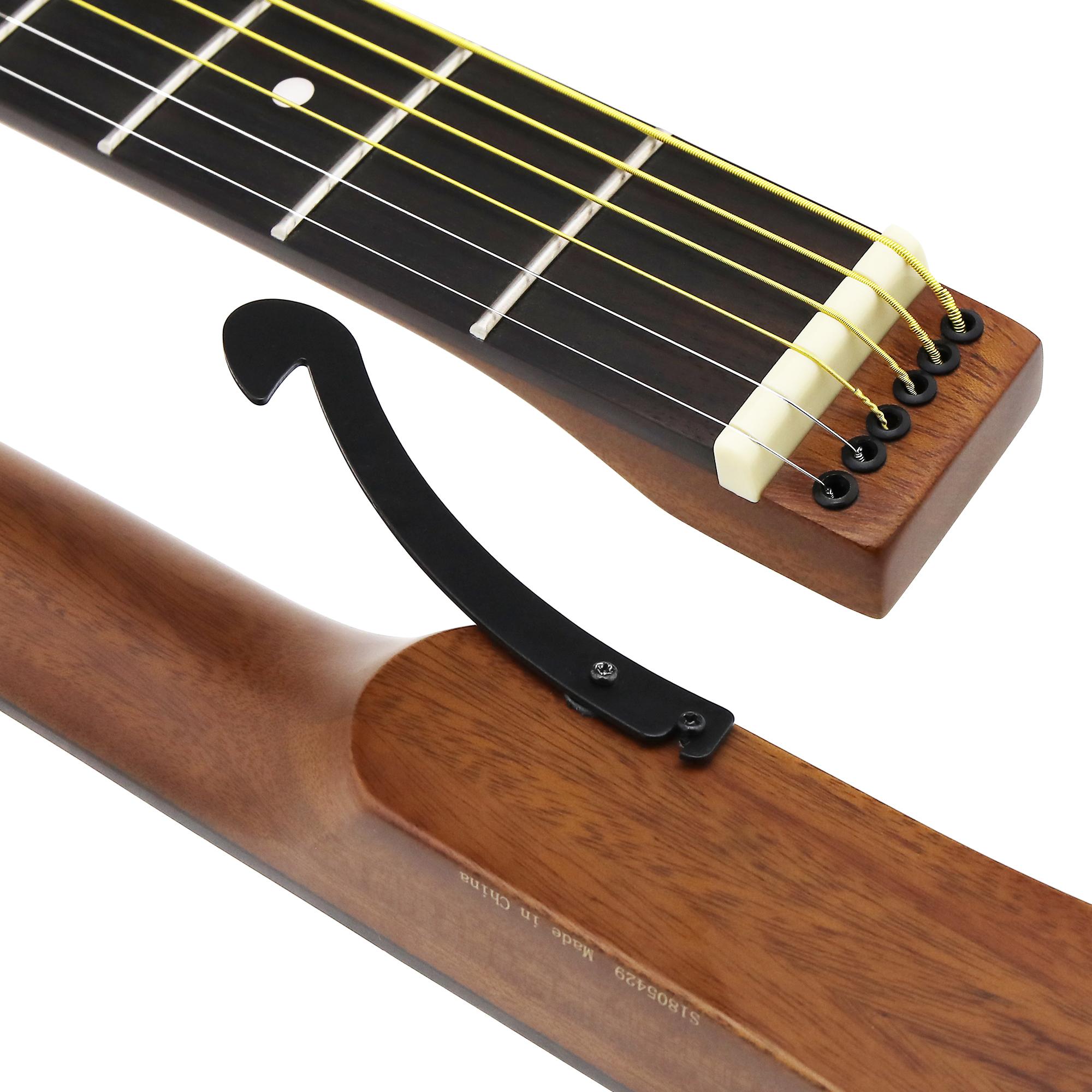 anygig agsse 24 frets 648mm acoustic guitar strings 012 053 matte brown with bag ebay. Black Bedroom Furniture Sets. Home Design Ideas