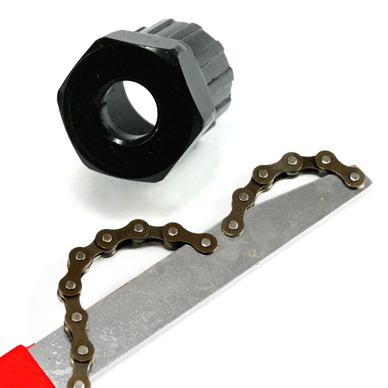 Bikehand Cassette freewheel remover installer tuner Chain Whip set for shimano