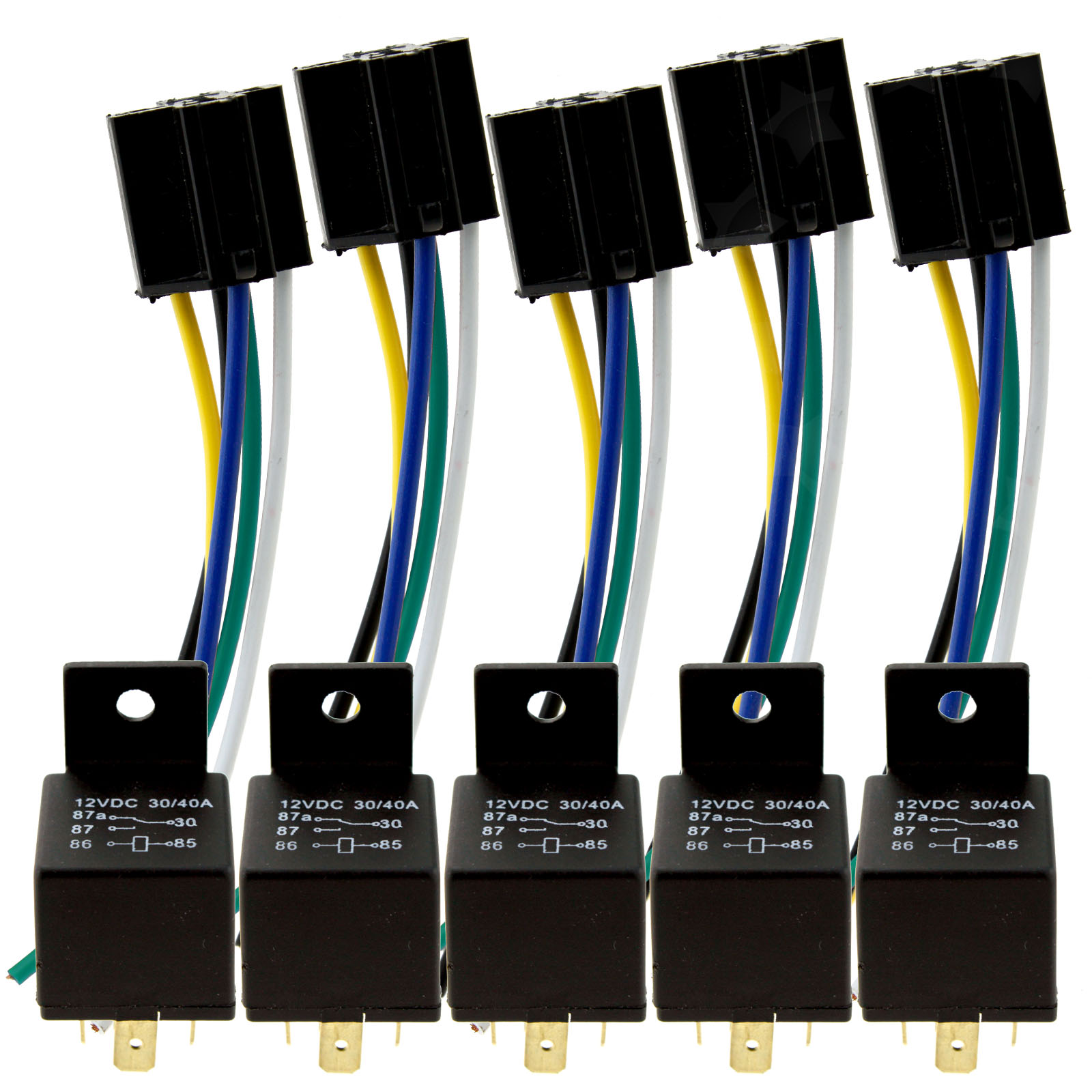 5x Universal Auto Car Truck Van Motorbike 5 Pin Relay With