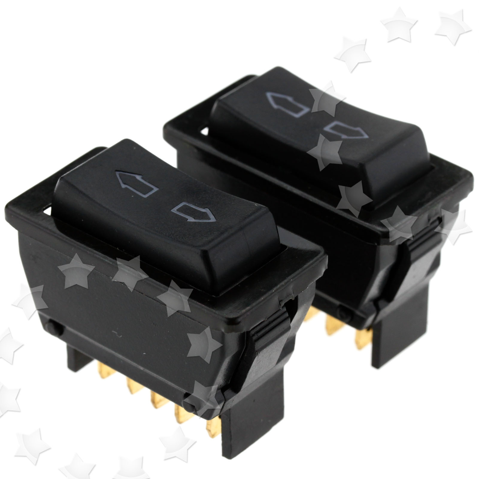 2 Pieces 12v Led Car Electric Window Aerial Up Down Rocker