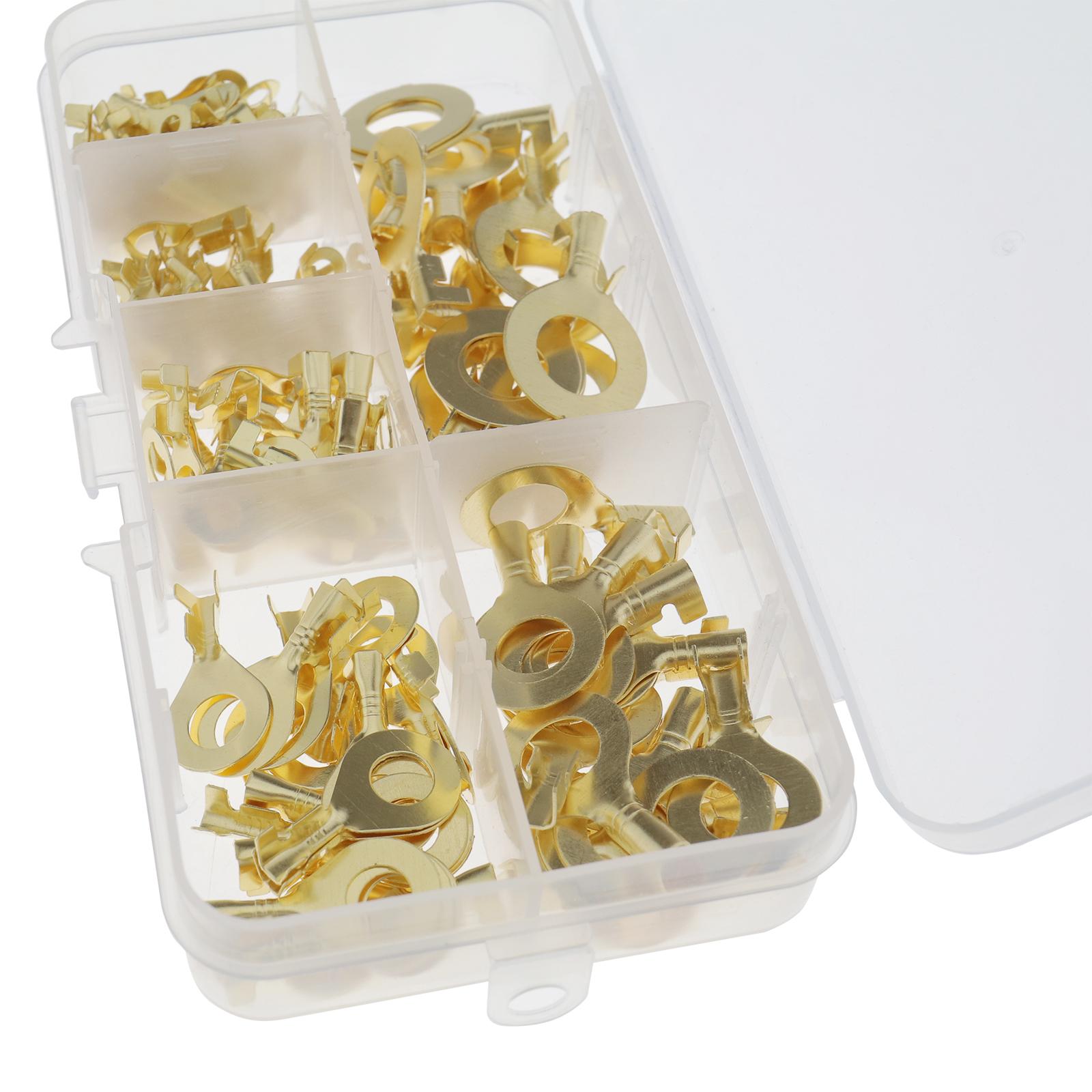 150Pcs-cable-en-laiton-a-anneau-en-cuivre-oeil-Assortiment-Ensemble-6-Taille miniature 2