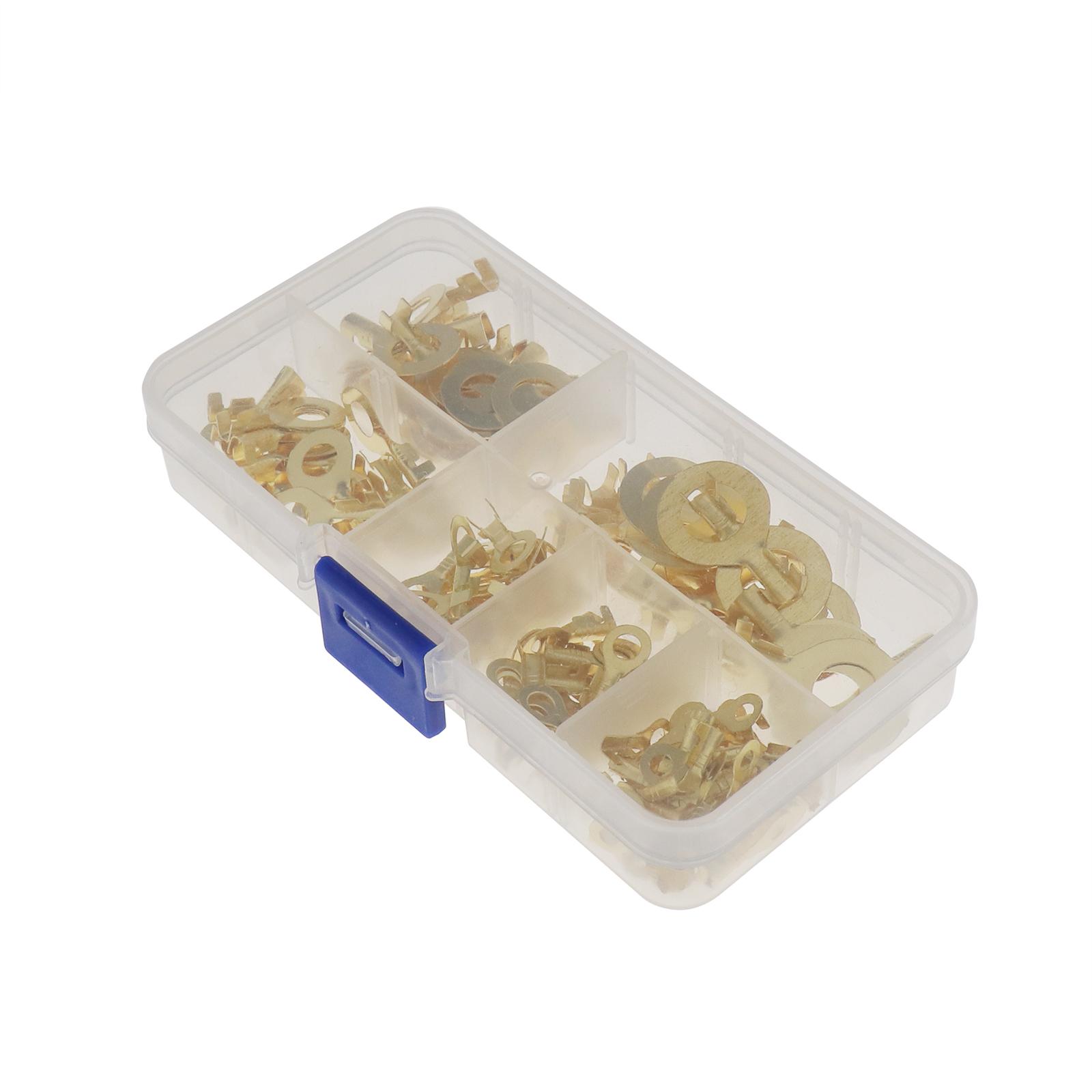 150Pcs-cable-en-laiton-a-anneau-en-cuivre-oeil-Assortiment-Ensemble-6-Taille miniature 4