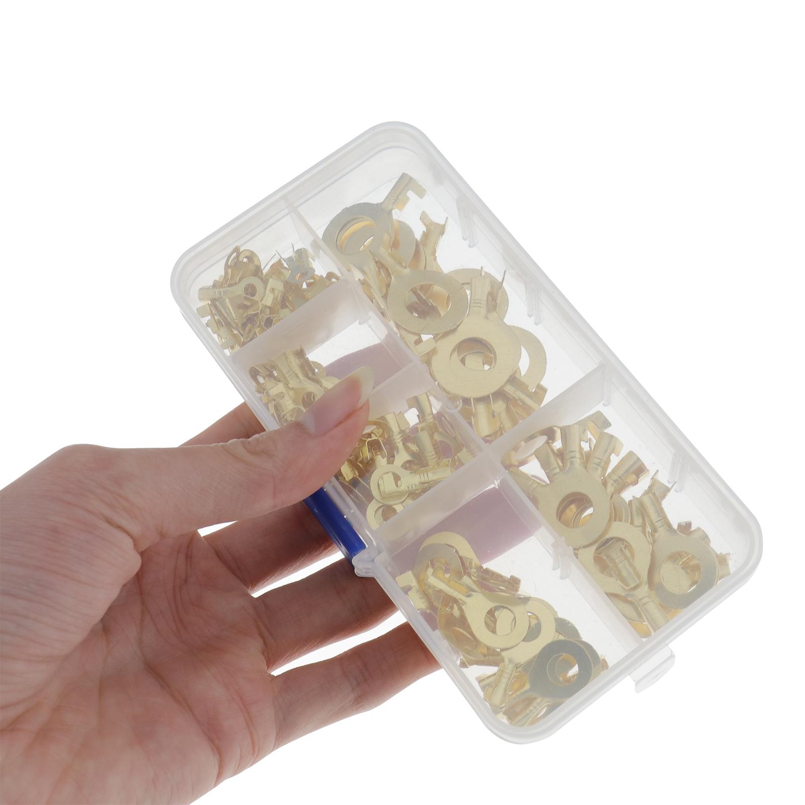 150Pcs-cable-en-laiton-a-anneau-en-cuivre-oeil-Assortiment-Ensemble-6-Taille miniature 5