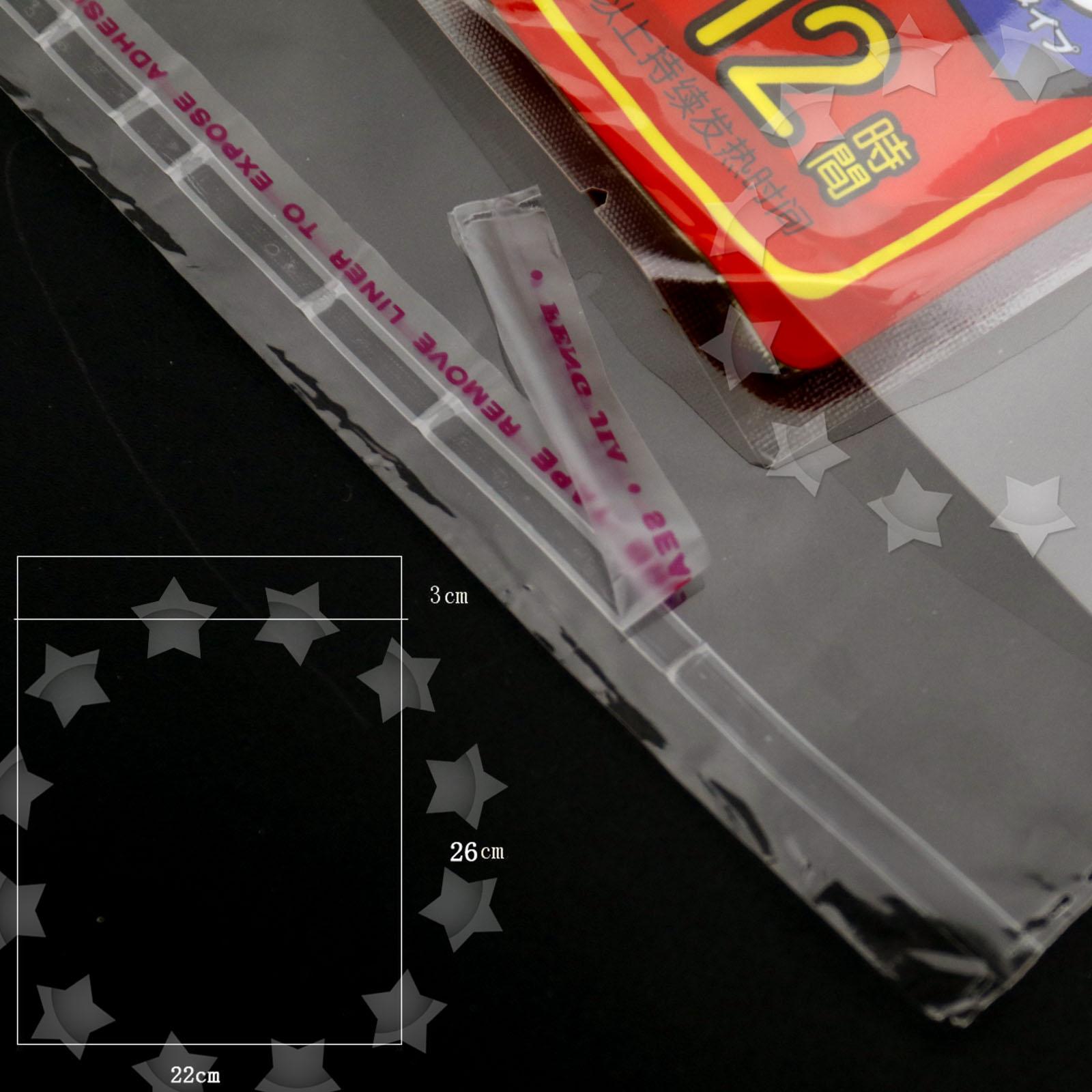 100 Pcs 2 Sizes Cello Card Bags Cellophone Self Seal Strip Crystal