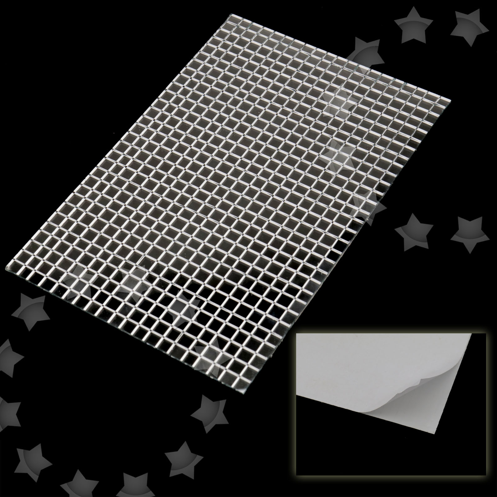 3000pcs Silver Self Adhesive Mirror Diy Decoration Mosaic